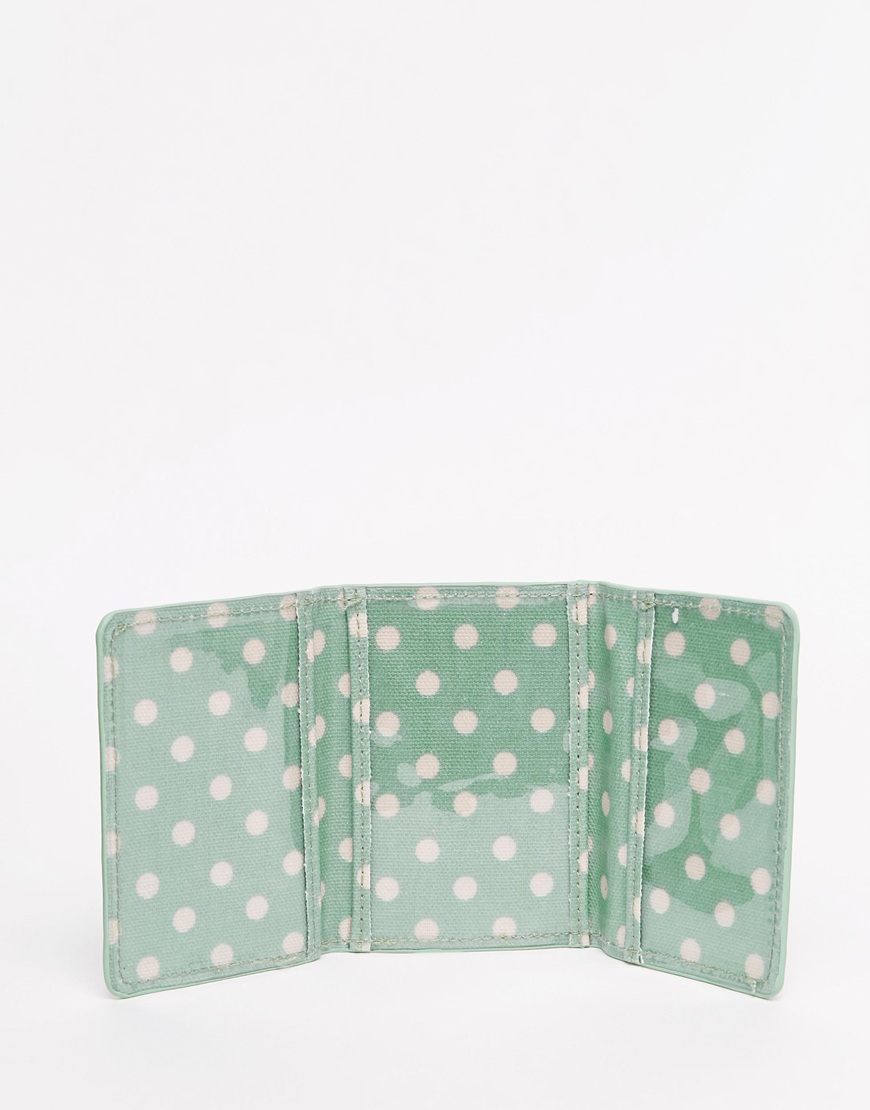 Lyst cath kidston spot ticket card holder in green gallery colourmoves