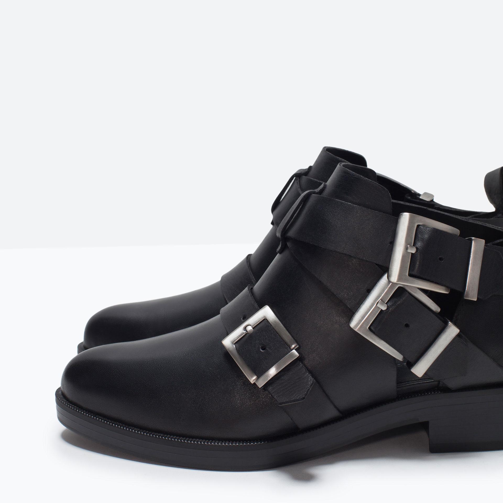 Zara Black Lace Up Shoes