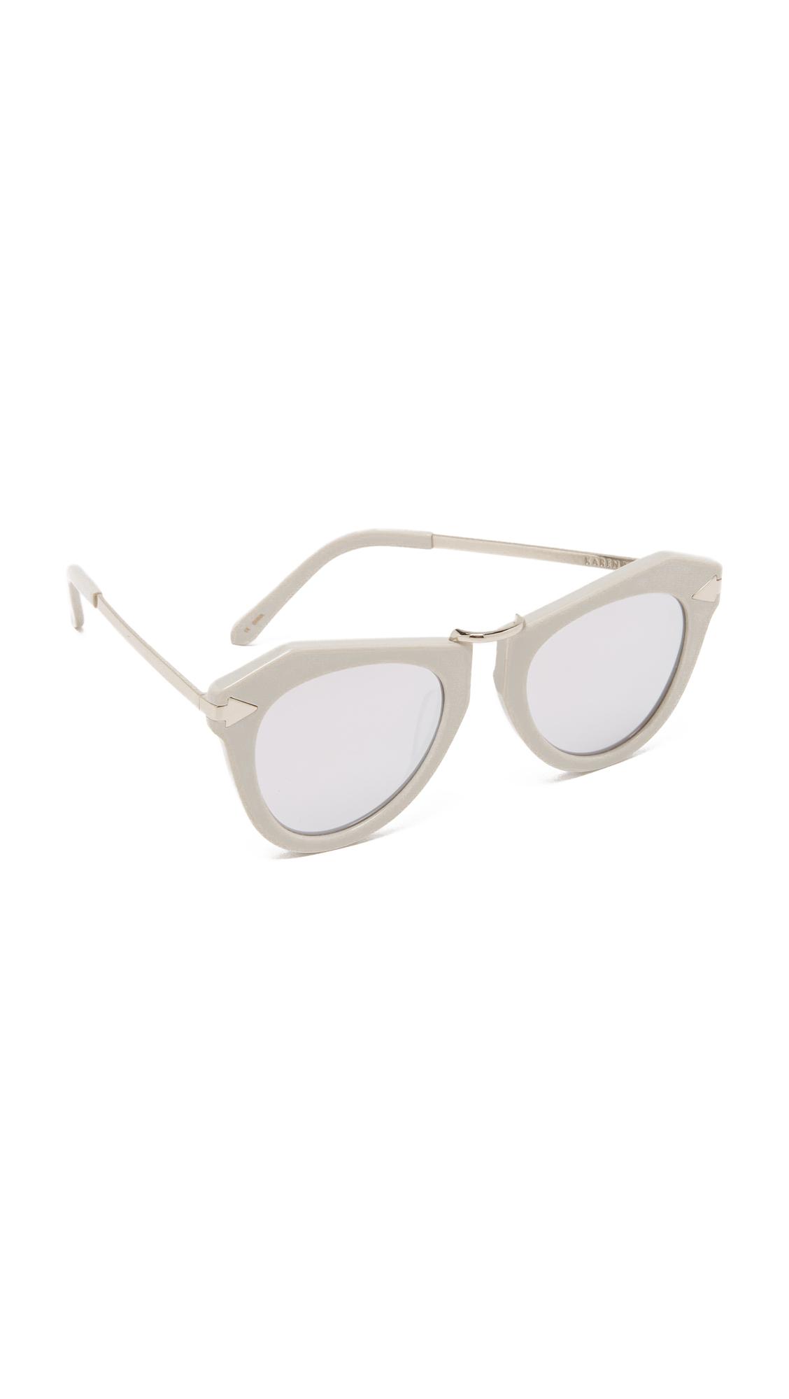 e18f417b04 Karen Walker One Orbit Sunglasses in Gray - Lyst