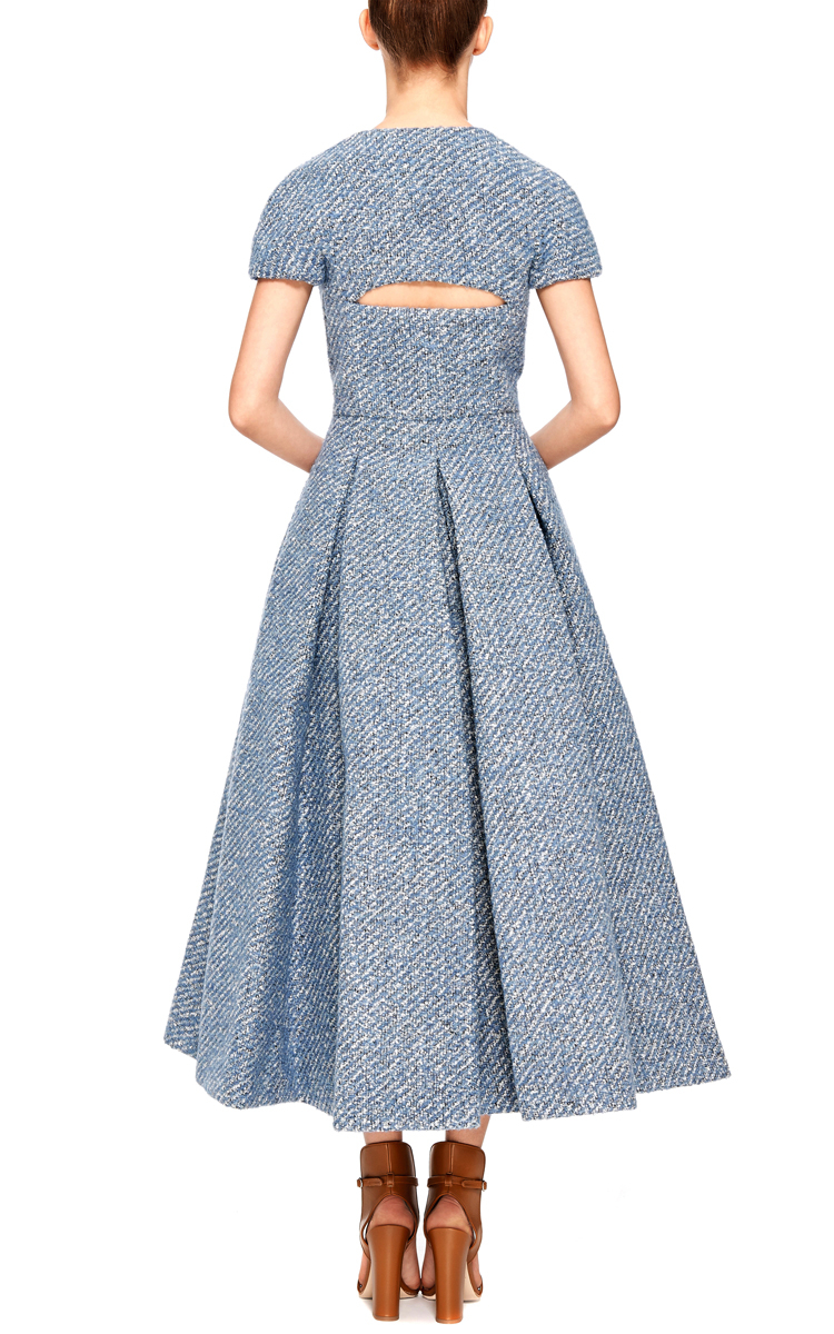 Lyst Emilia Wickstead A Dress With Back Slit In Blue