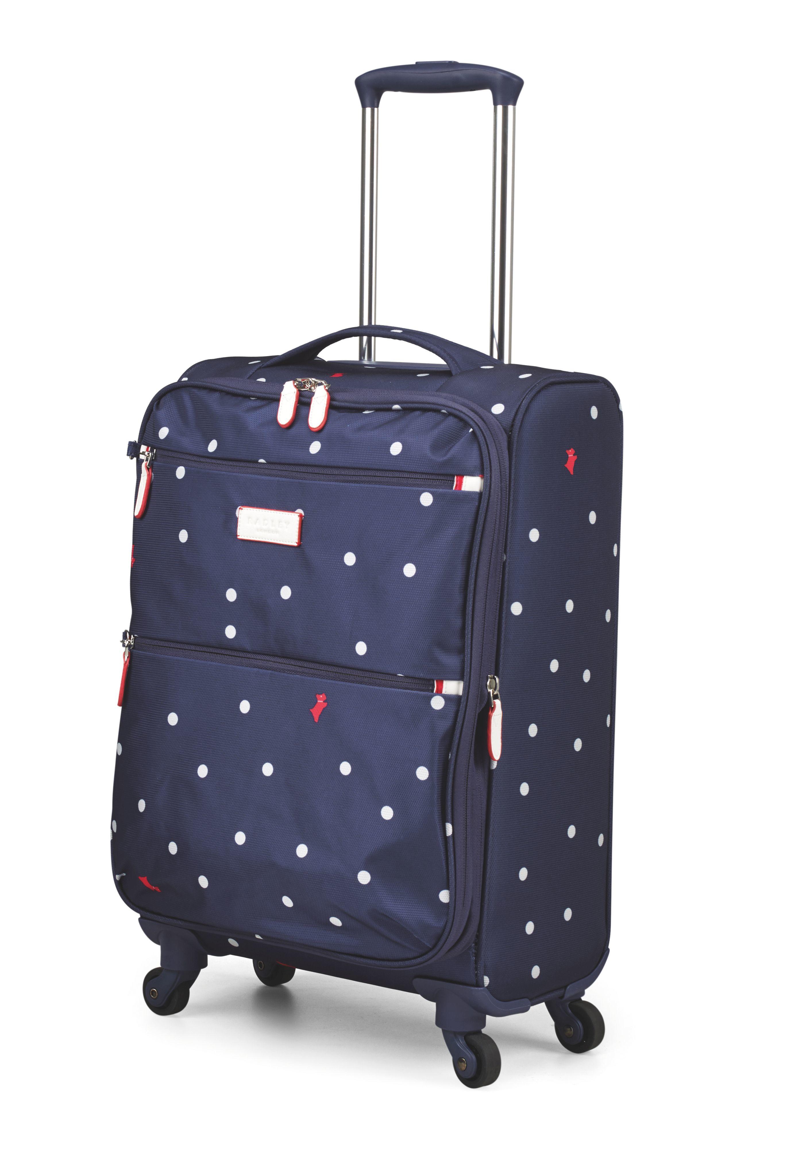 Radley Cheshire Street Navy 4 Wheel Soft Cabin Suitcase in Blue | Lyst