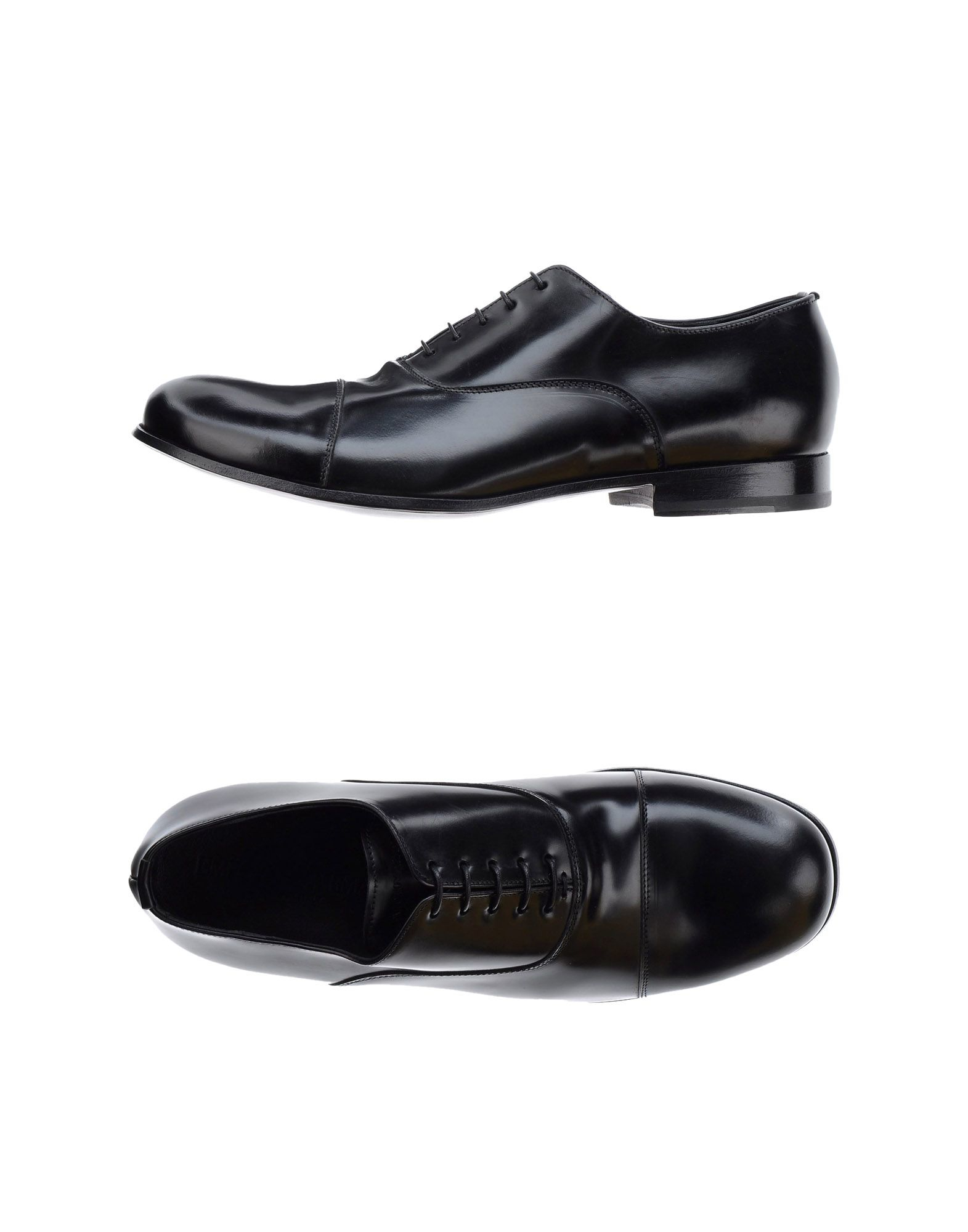 Emporio armani Lace-up Shoes in Black for Men | Lyst