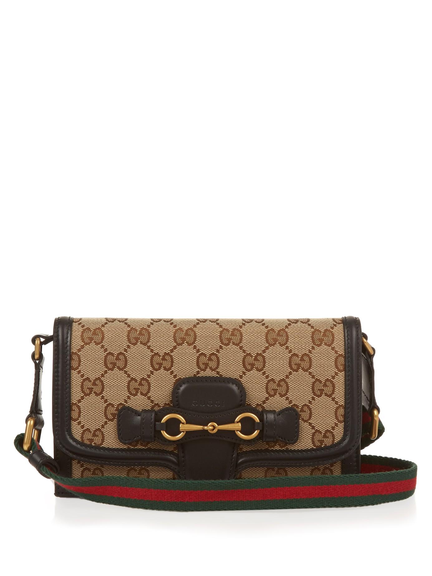 Gucci Lady Web Cross-Body Bag in Black - Lyst