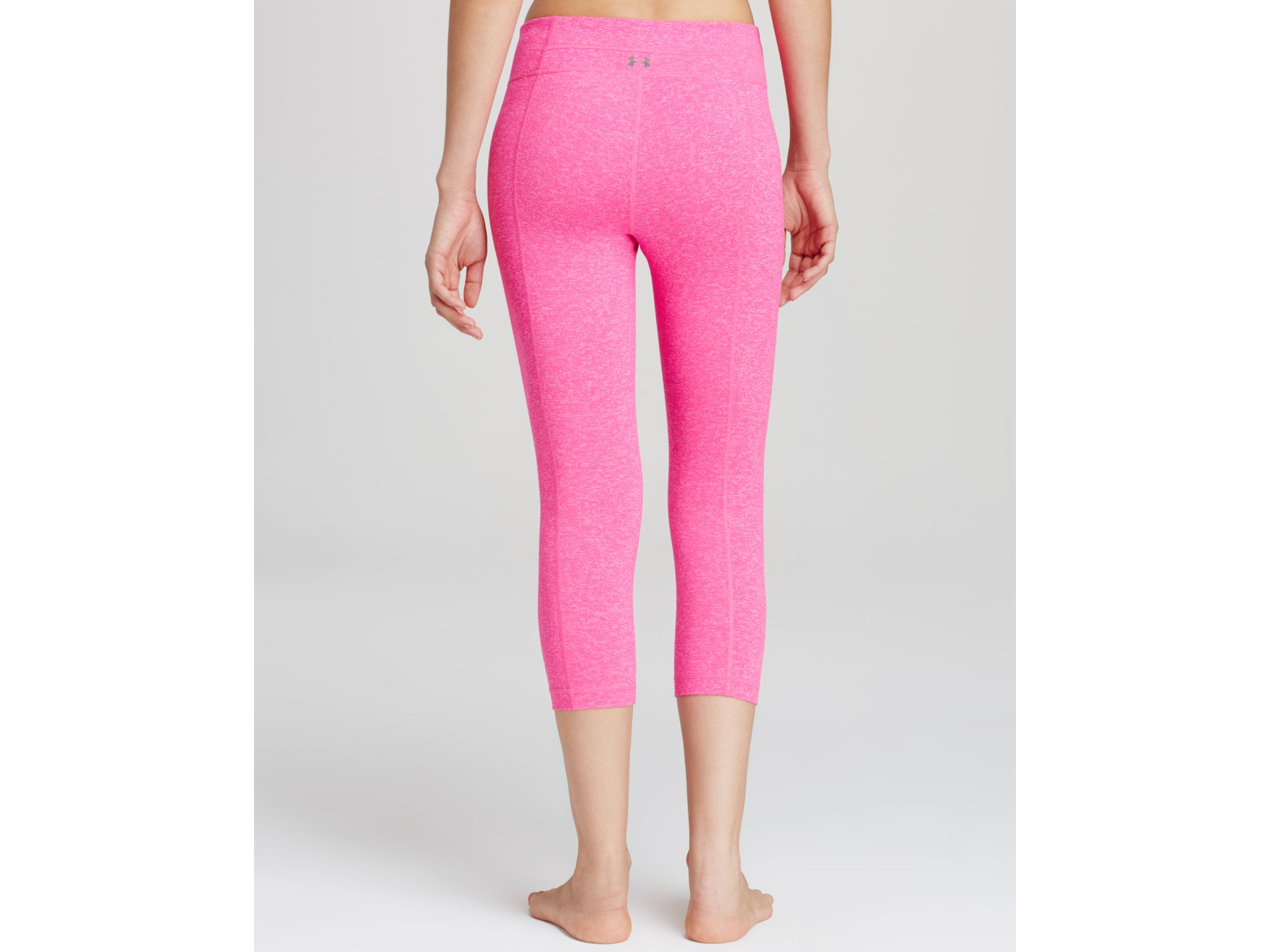 75219a0176ca56 Under Armour Studio Tight Capri Leggings In Pink in Pink - Lyst