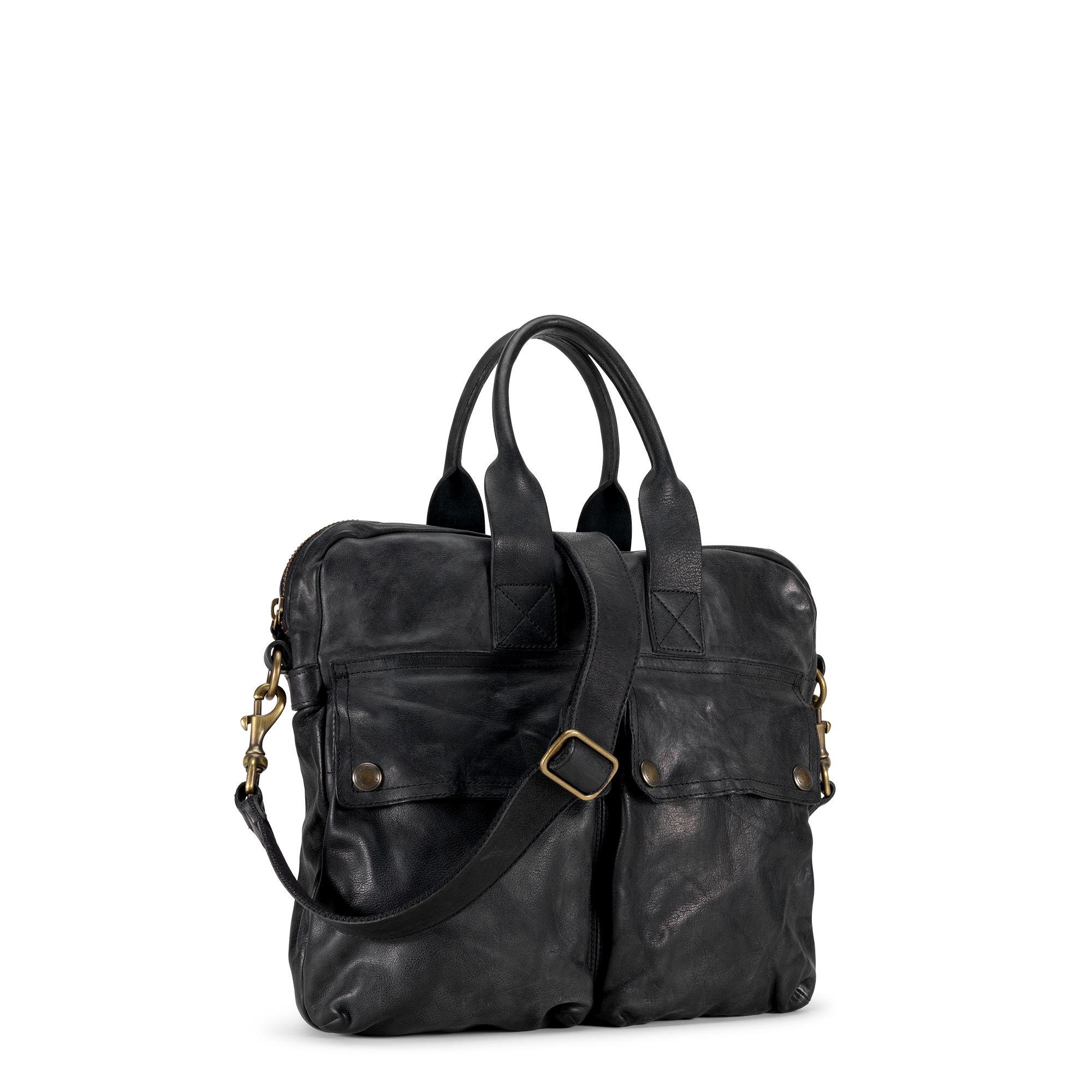 b75ea646cb Polo Ralph Lauren Leather Helmet Bag in Black for Men - Lyst