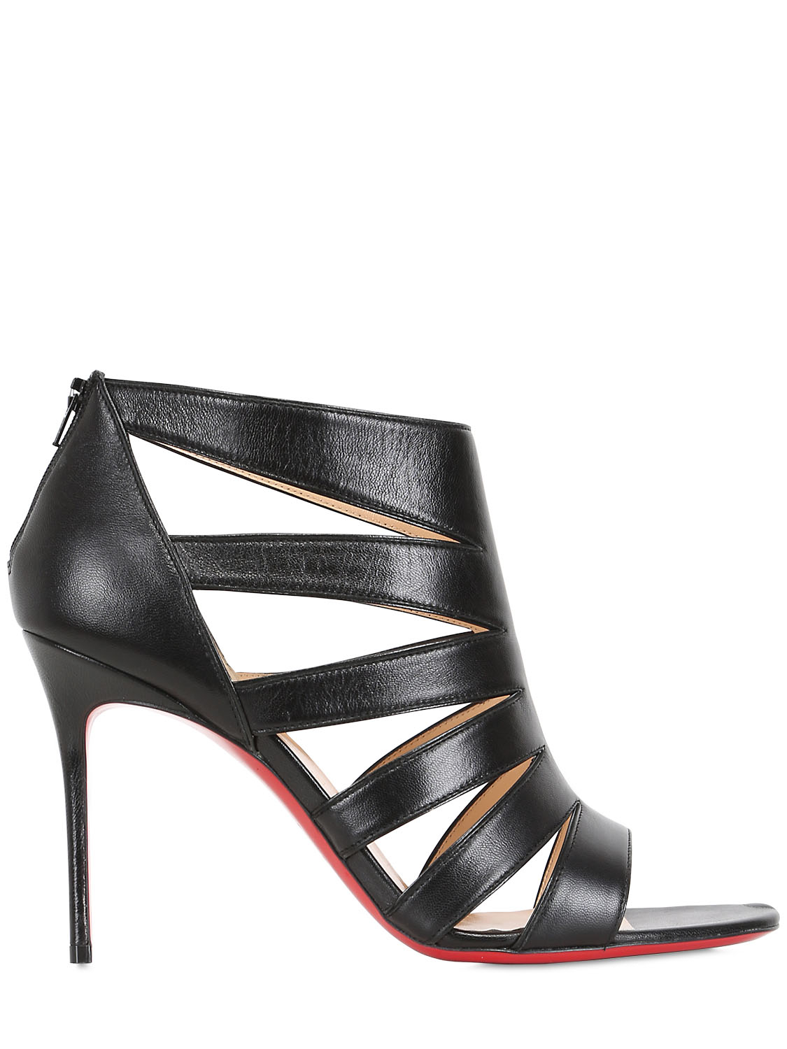 christian louboutin patent leather cage wedges