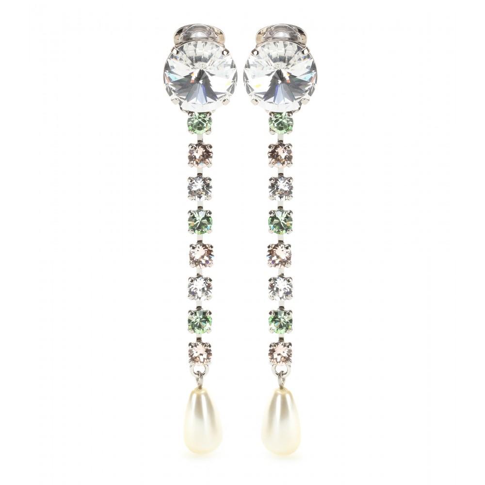 Clipsable Embelli Cristal Boucles Miu Miu GyDsC