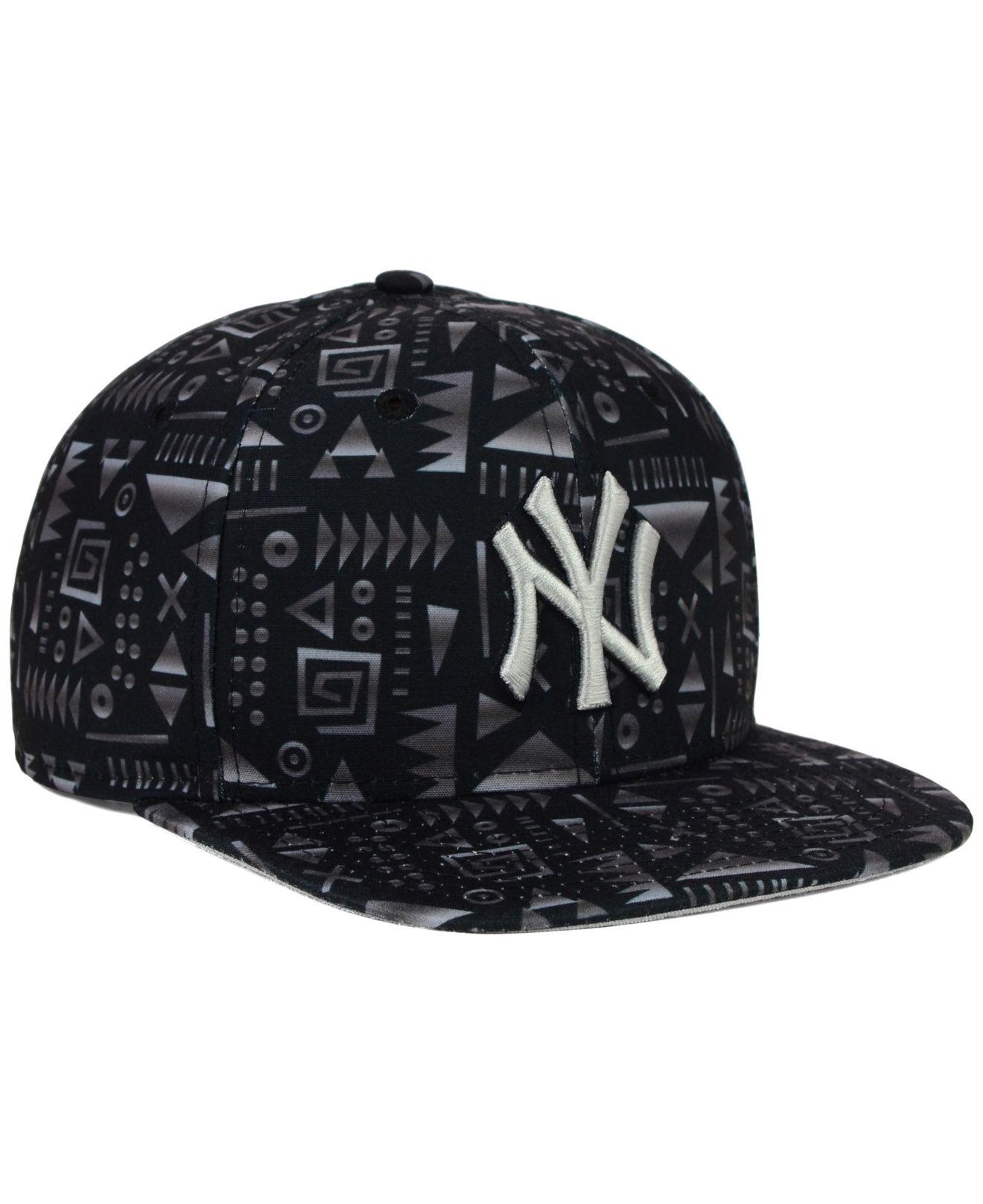 premium selection 454af 8370d ... new zealand lyst ktz new york yankees geo 9fifty snapback cap in black  for men c4727
