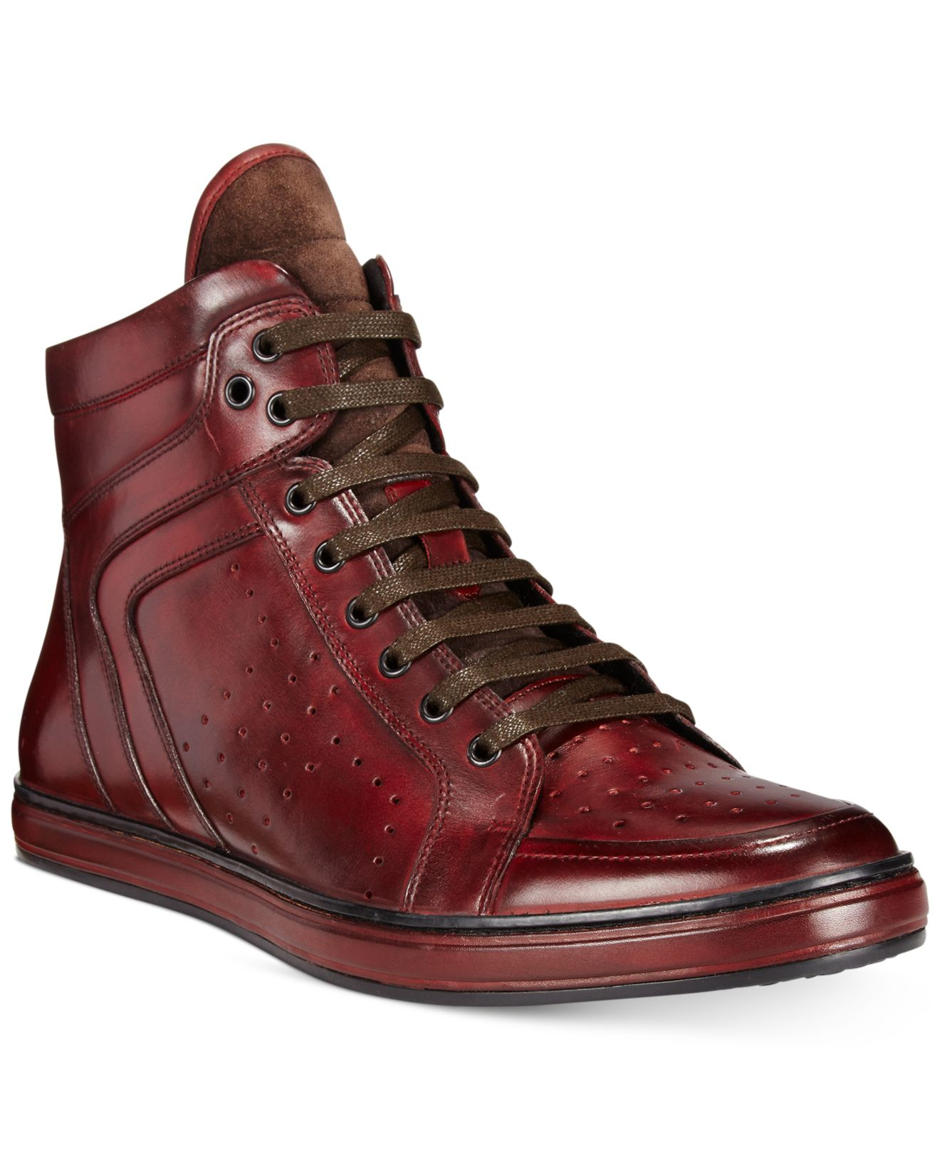 Kenneth cole Big Brand Leather High-tops in Purple for Men ...