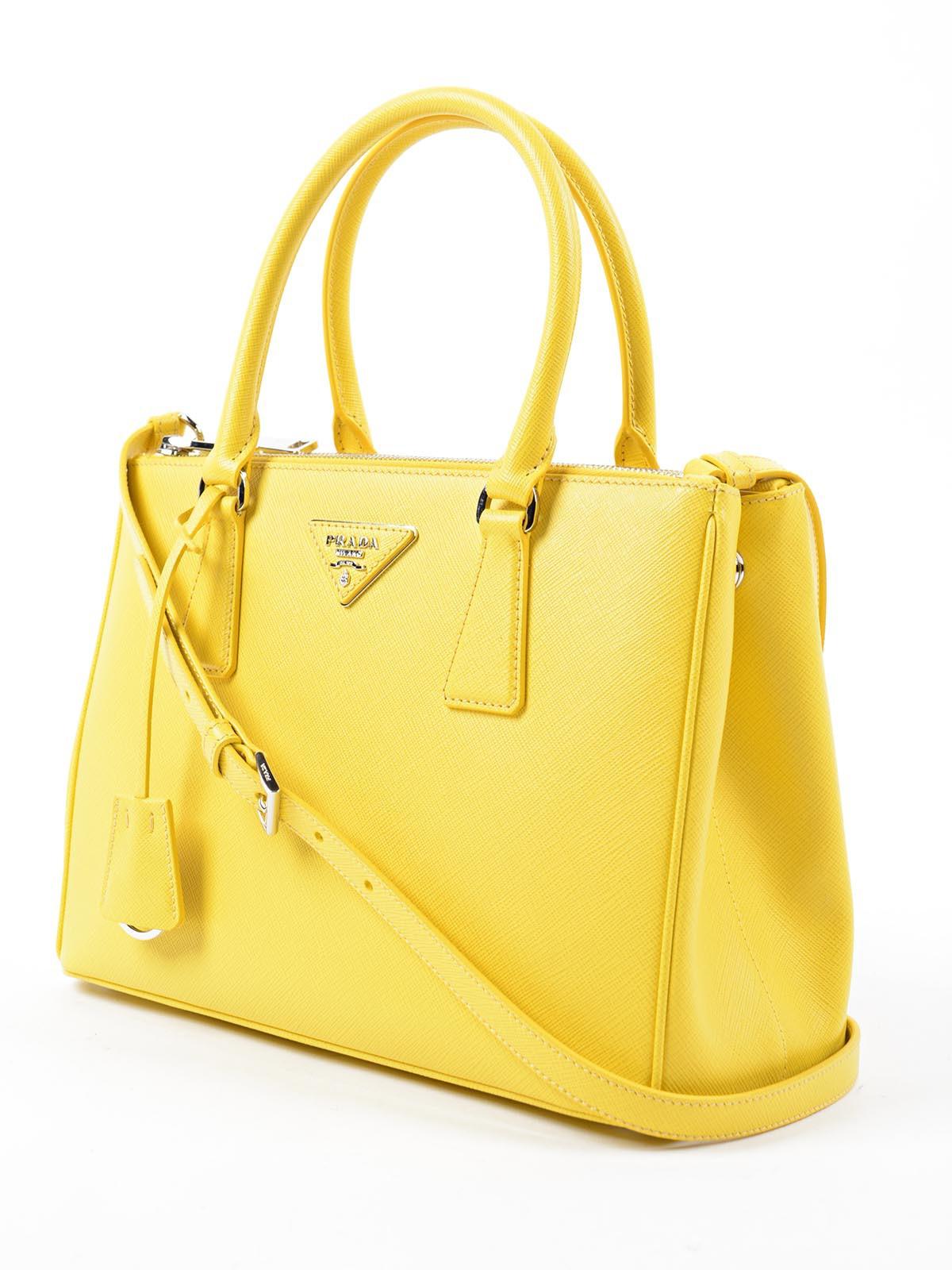prada canvas handbag - Prada Saffiano Lux in Yellow (Dlc Sole 1) | Lyst