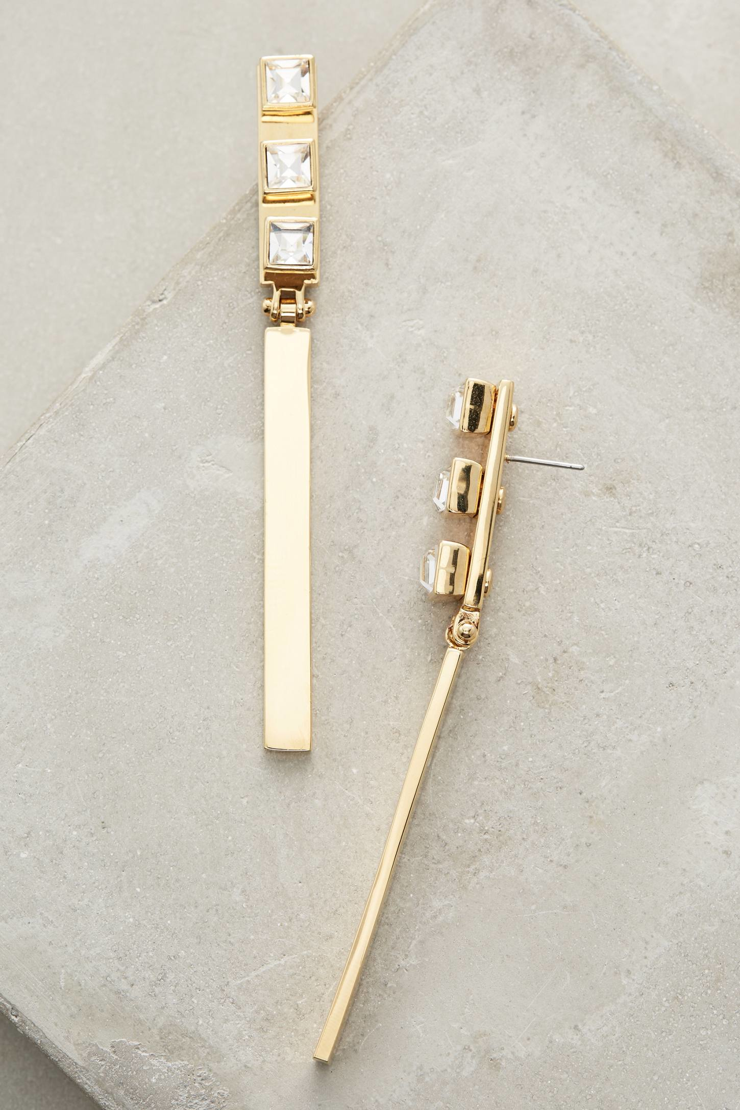 Lyst lele sadoughi crystal wand drops in metallic for Wand metallic