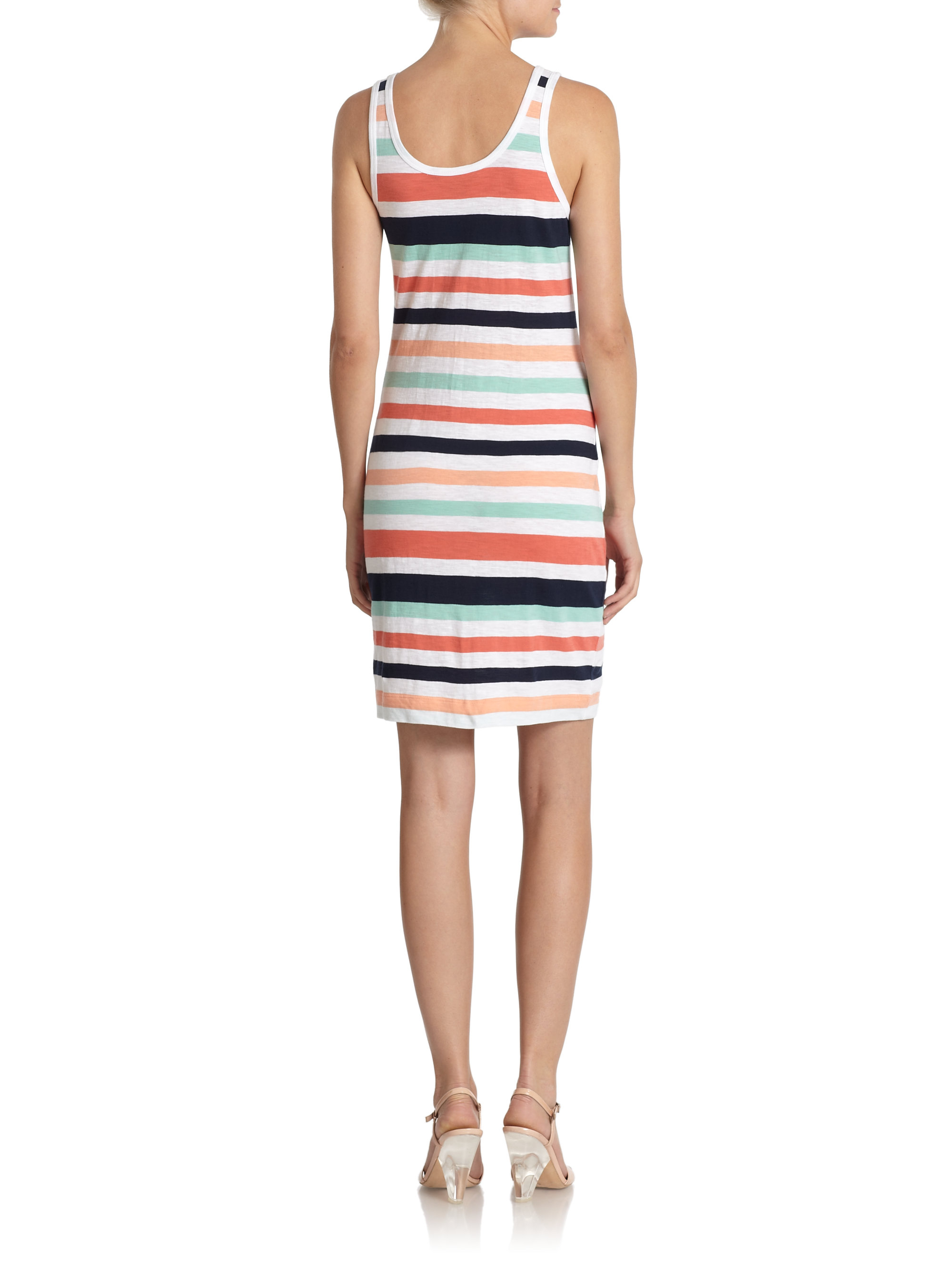 French connection Summer Stripe Tank Dress | Lyst