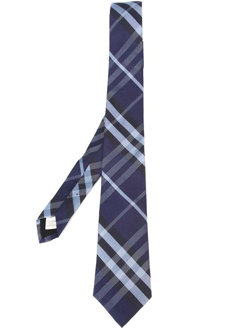 2ab8bebd7191 ... italy lyst burberry nova check tie in blue for men d4a5c 35b52 ...