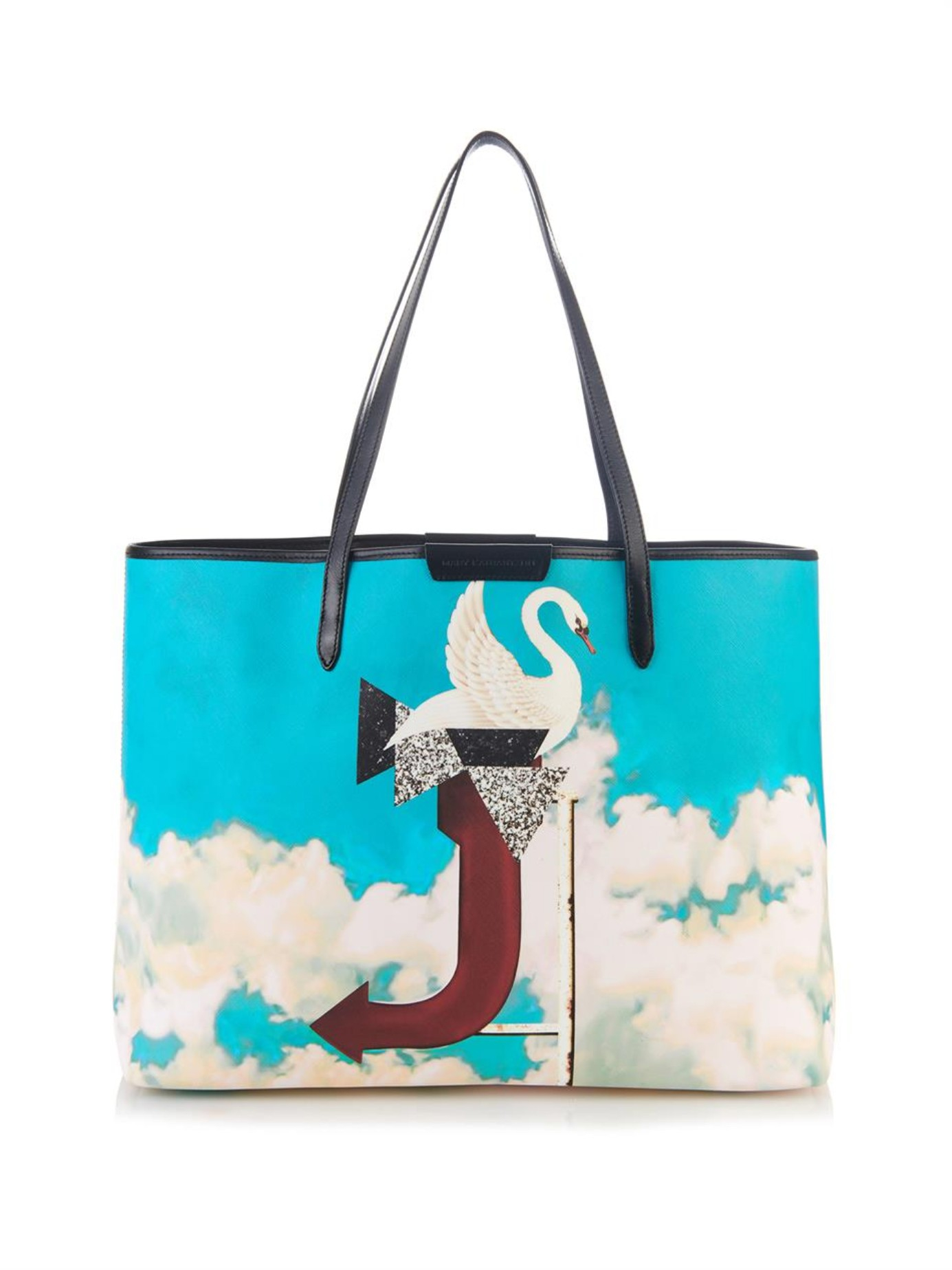 93c10af926 Mary Katrantzou J Melina Coated-Canvas Tote in Blue - Lyst