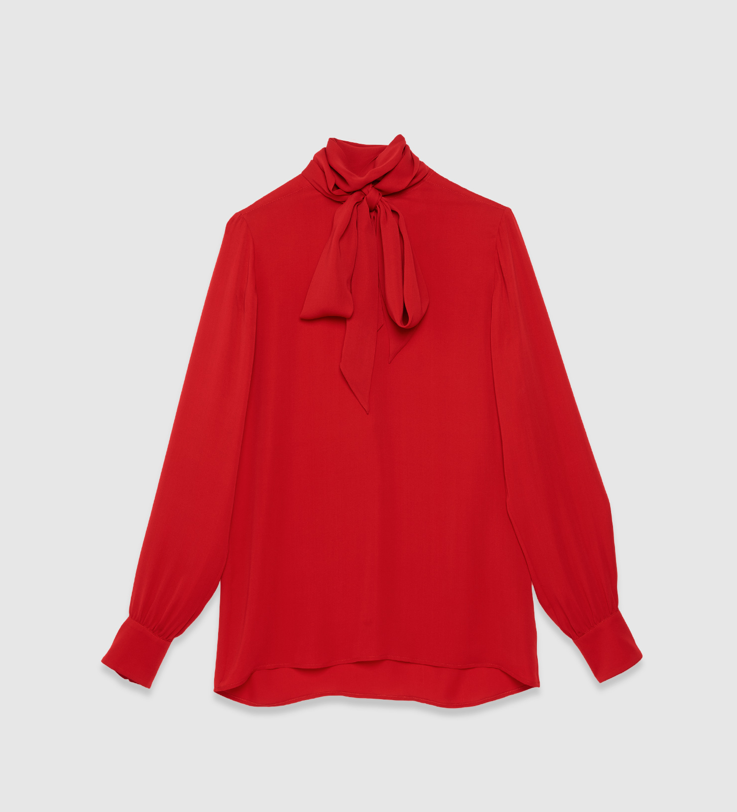 17895fbb9 Gucci Silk Scarf Shirt in Red - Lyst