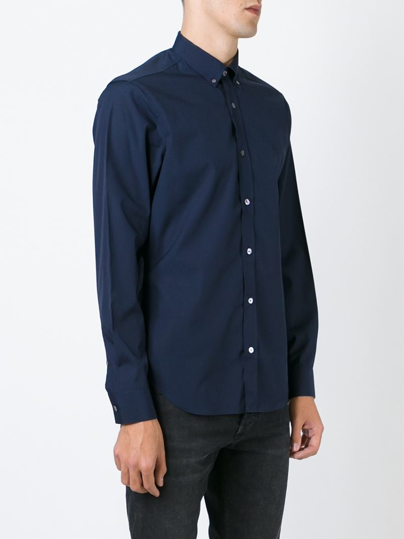 Lyst burberry brit classic button down shirt in blue for men for Preppy button down shirts