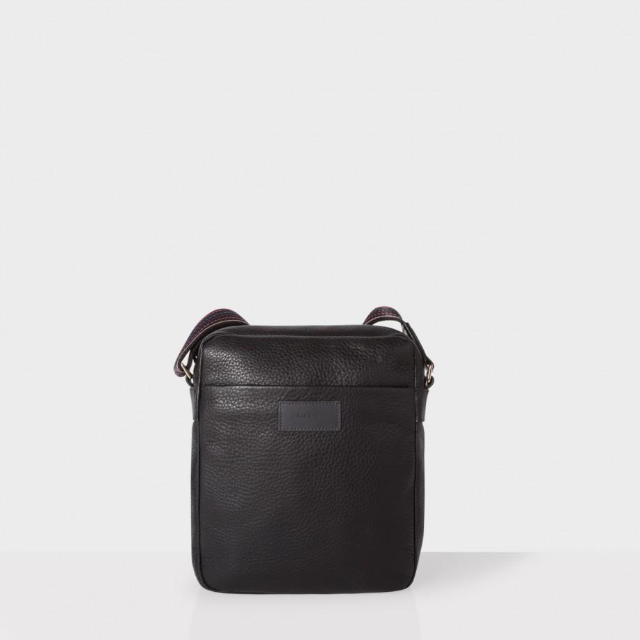 Paul smith Men's Black Leather 'city Webbing' Small Cross-body Bag ...