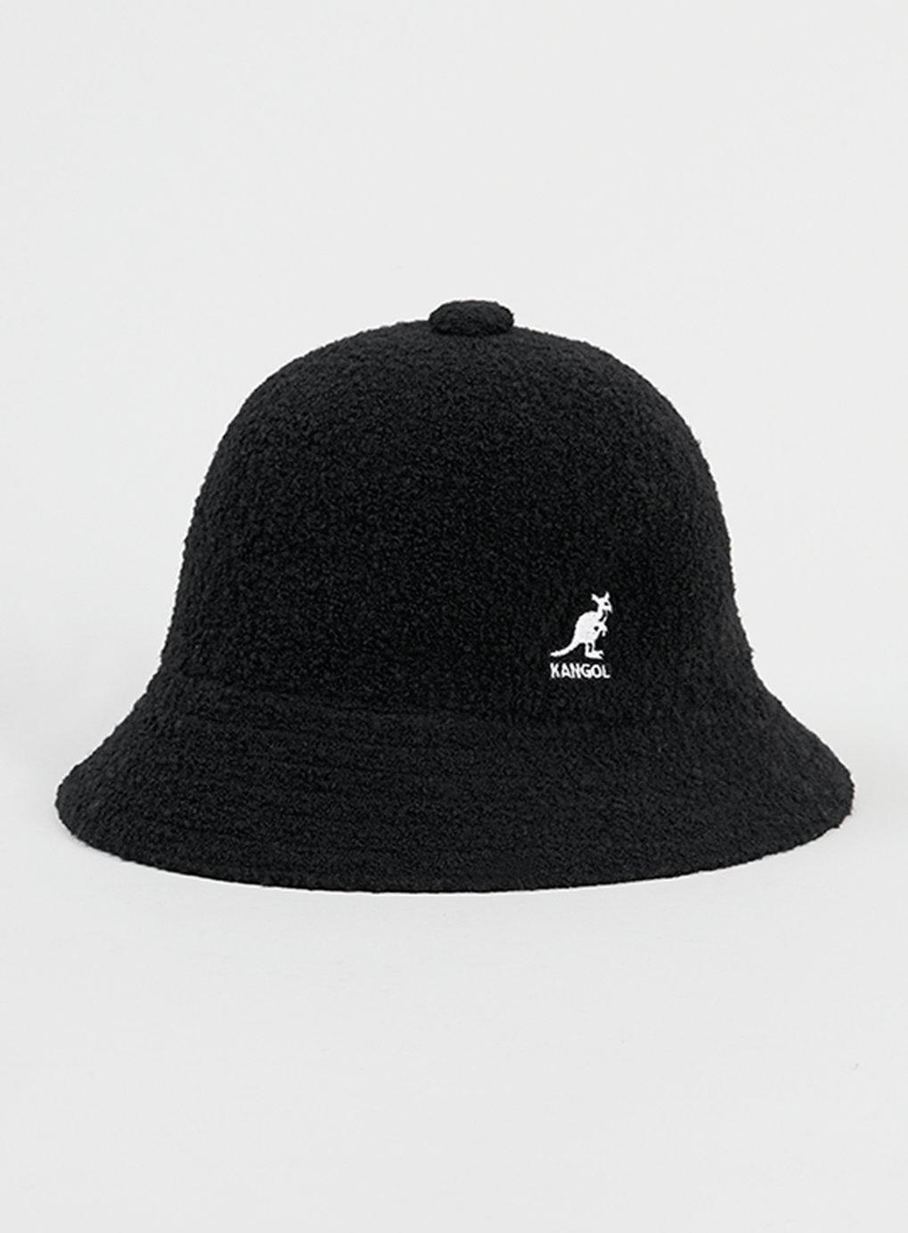 Topman Black Kangol Textured Bucket Hat in Black for Men ...