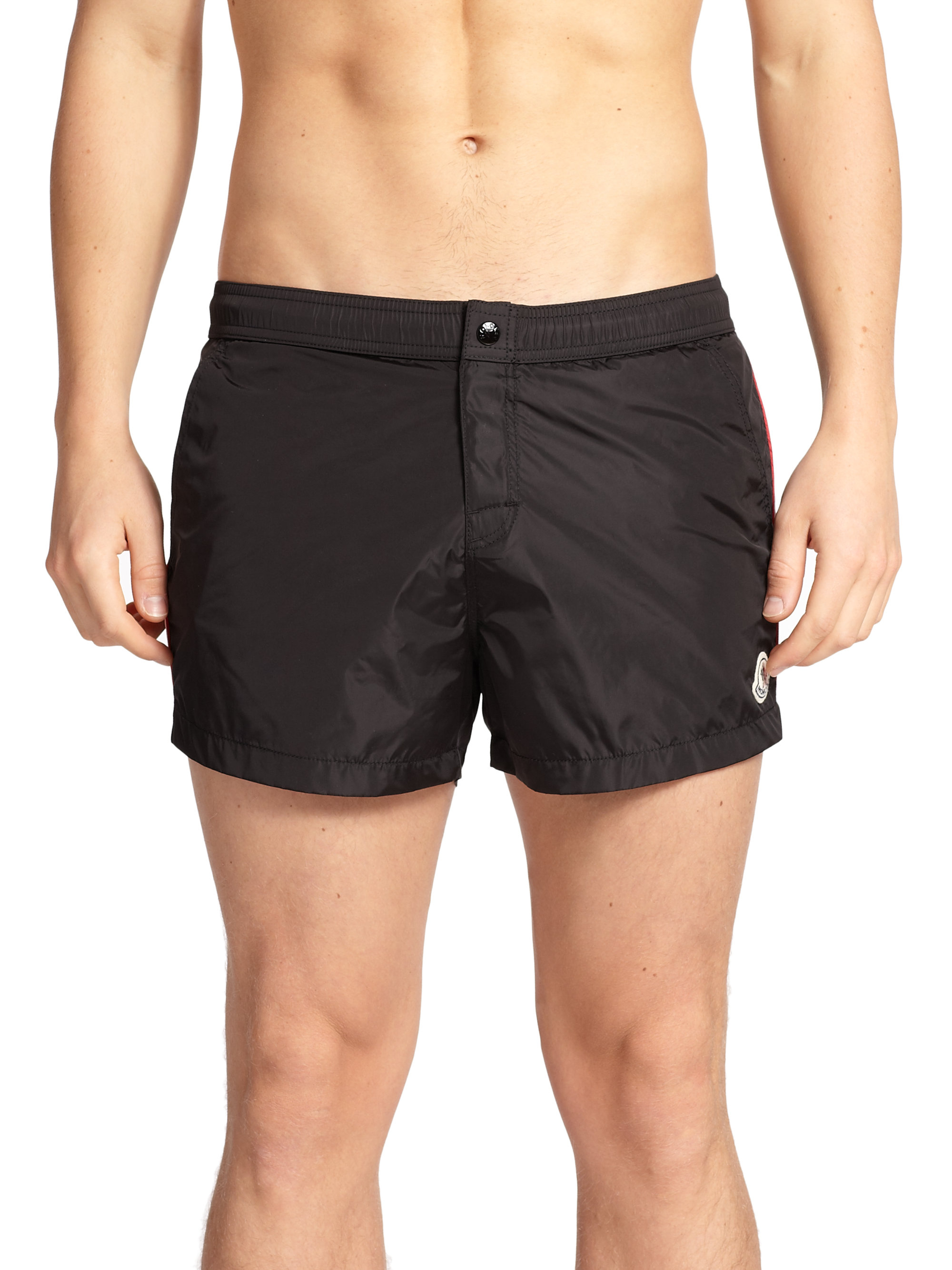5cfa58ab32 Moncler Nylon Swim Shorts in Black for Men - Lyst