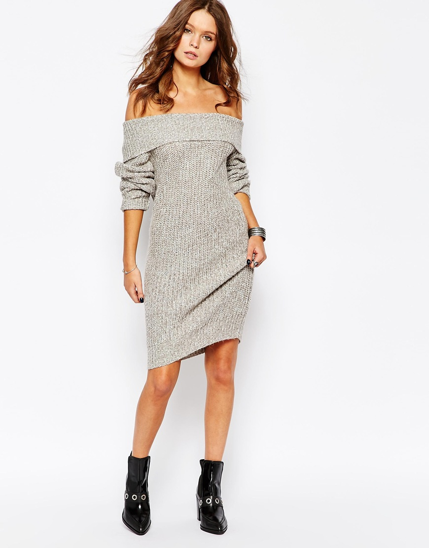 Free shipping and returns on BP. Off the Shoulder Sweater Dress at reformpan.gq A perfectly slouched fold-over neckline takes the off-the-shoulder trend to your fall wardrobe, making this cozy knit sweater-dress a must-have for the season/5(15).