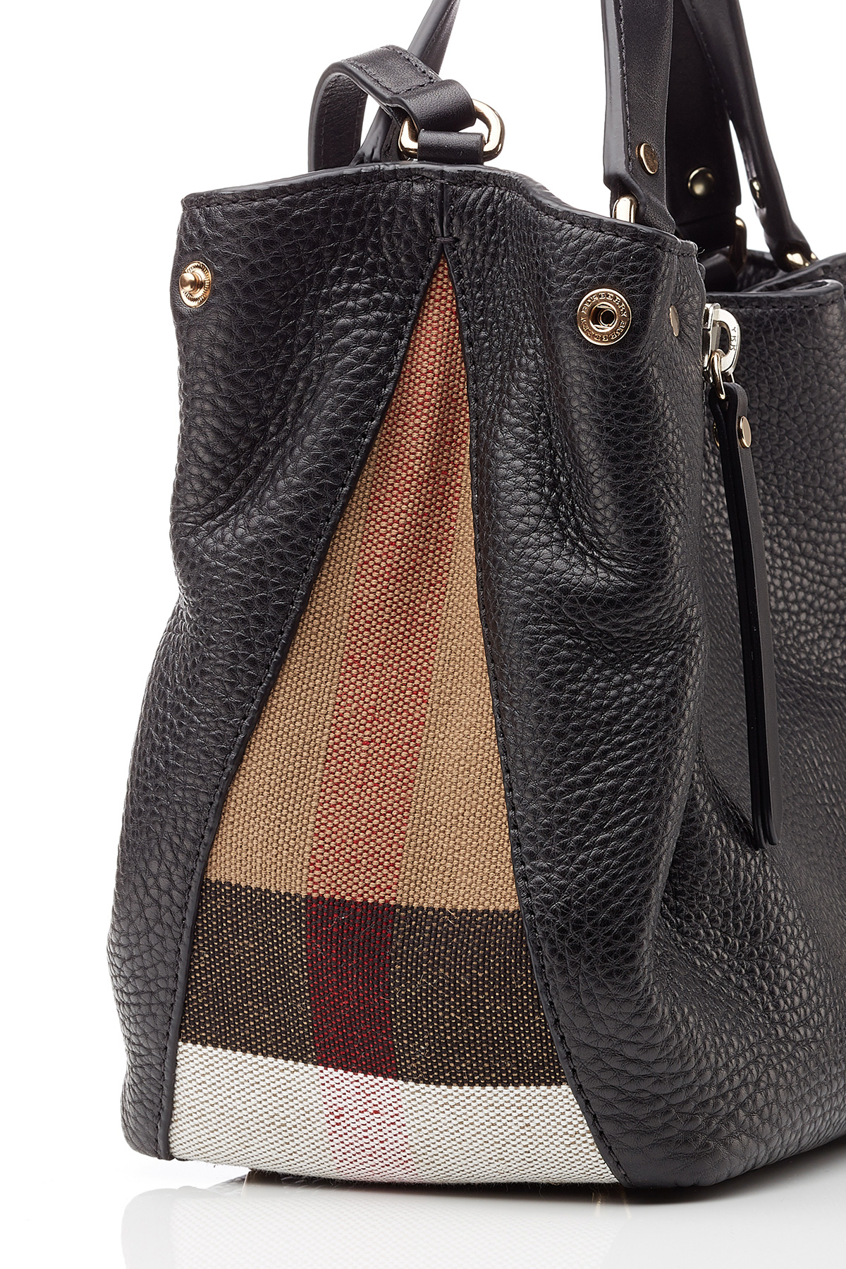 33204ac8497 Lyst burberry maidstone leather tote in black jpg 1200x1800 Burberry  leather tote