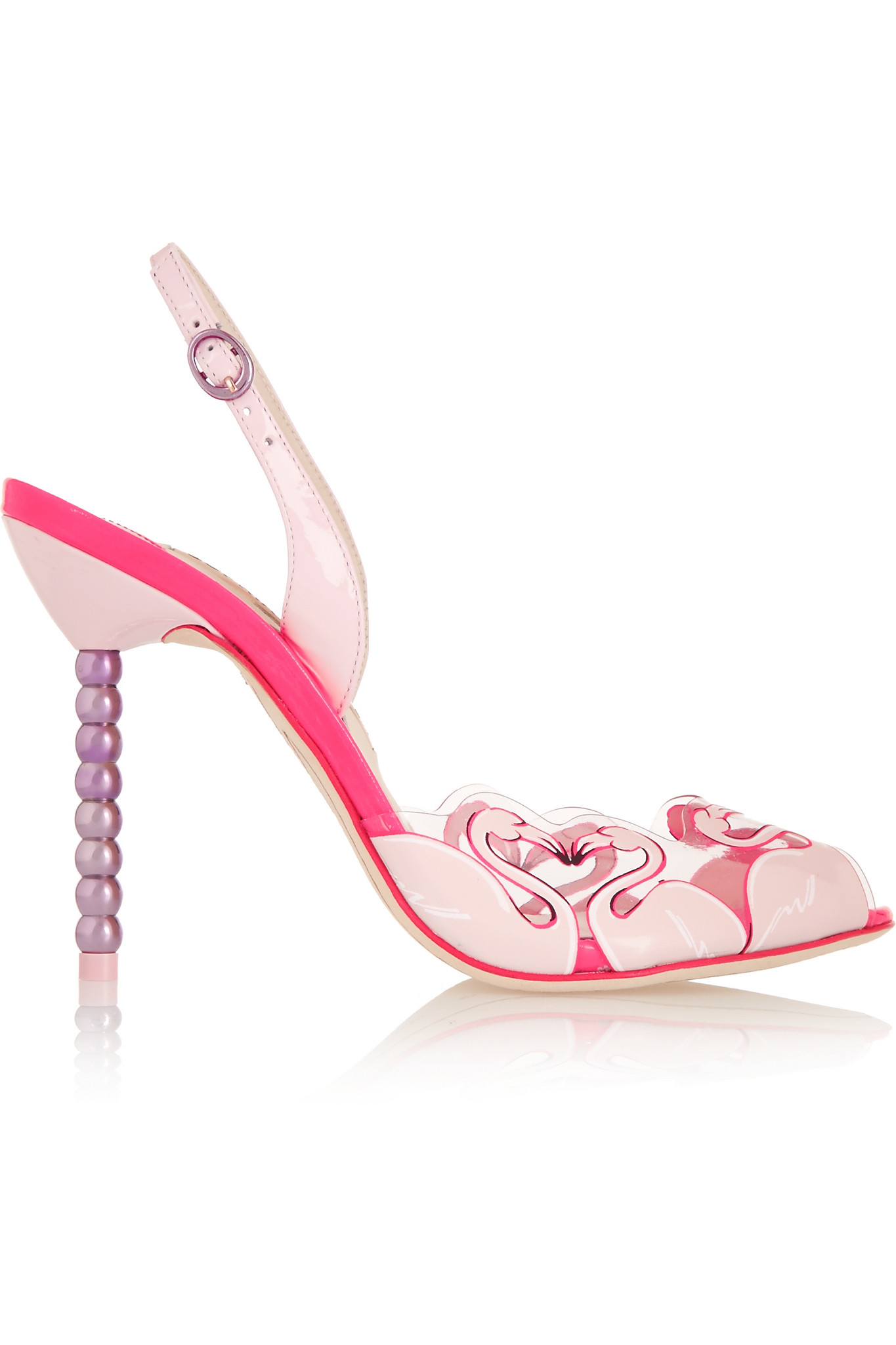 Sophia Webster Flamingo Pvc And Patent Leather Sandals in ...