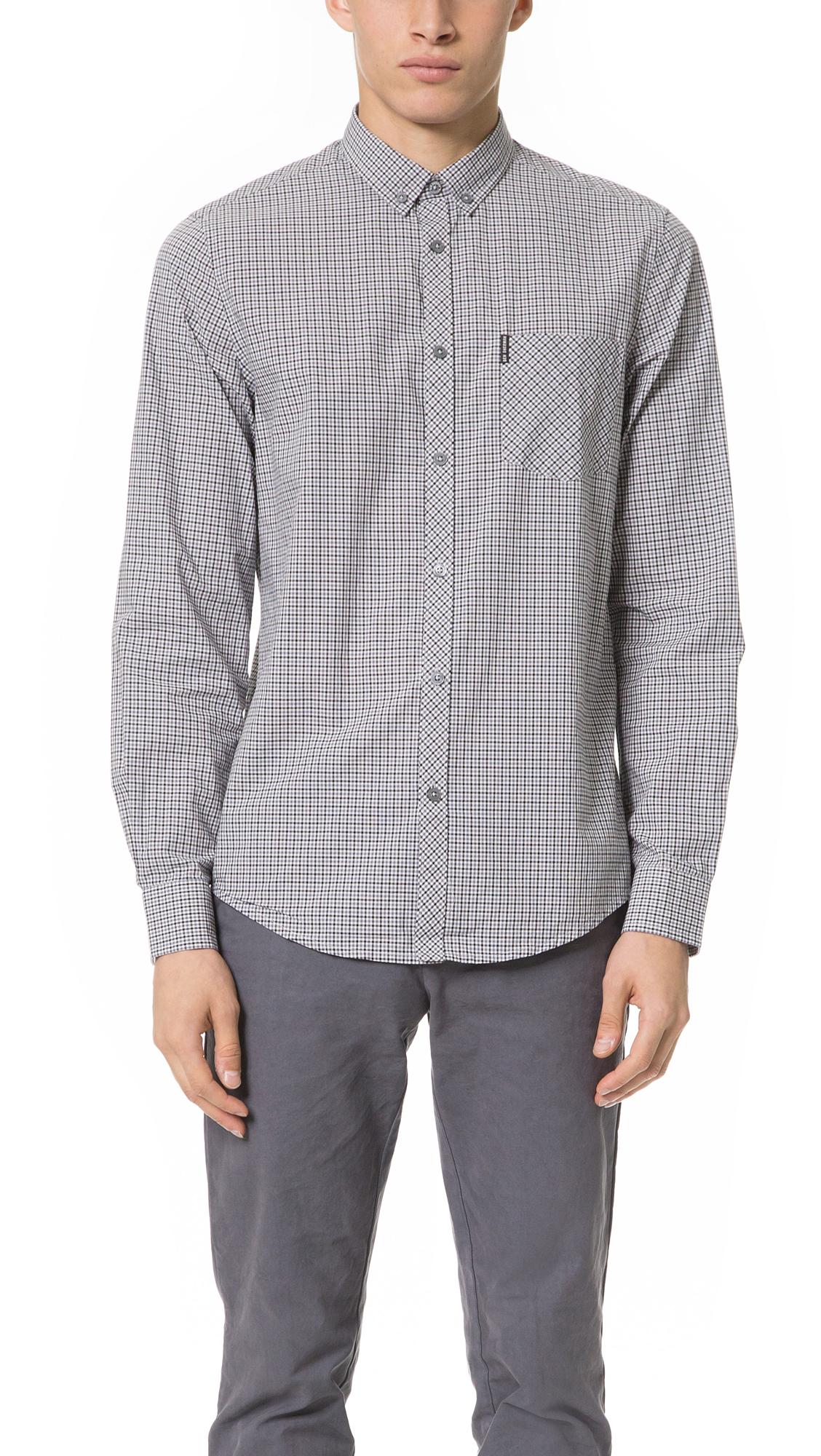 Lyst Ben Sherman Plaid Shirt In Gray For Men