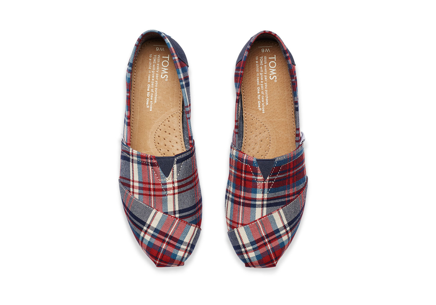348d924b83a Lyst toms red and blue plaid women classics in red jpg 1450x1015 Red plaid  shoes women