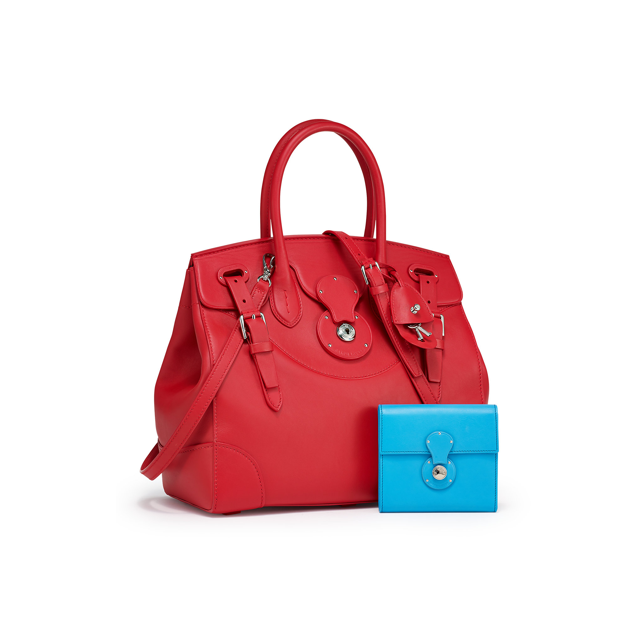 Lyst - Ralph Lauren Soft Ricky Bag in Red 4d2c3f5b26060