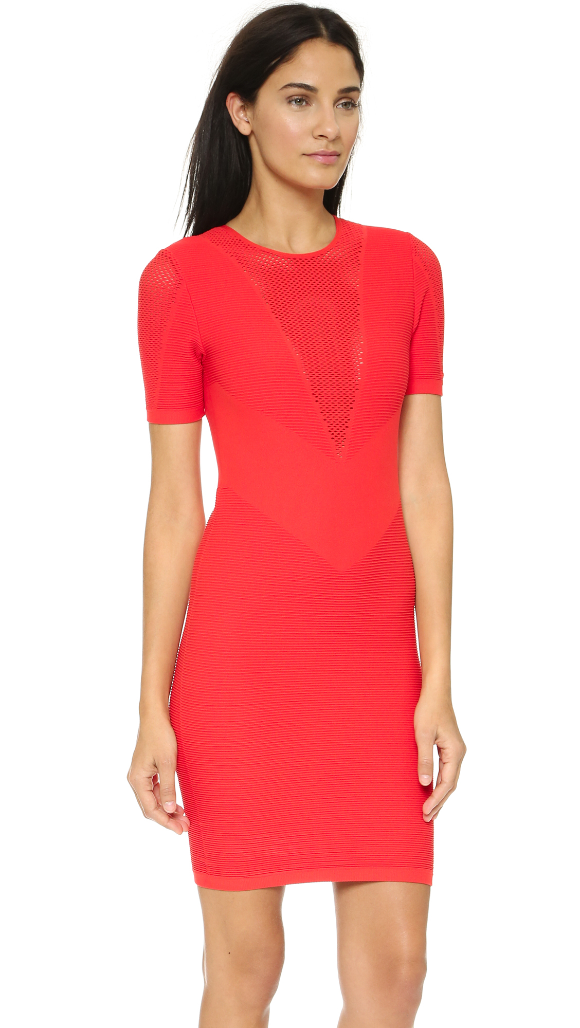 Theory Spike Atlas Dress - Red Coral in Red | Lyst