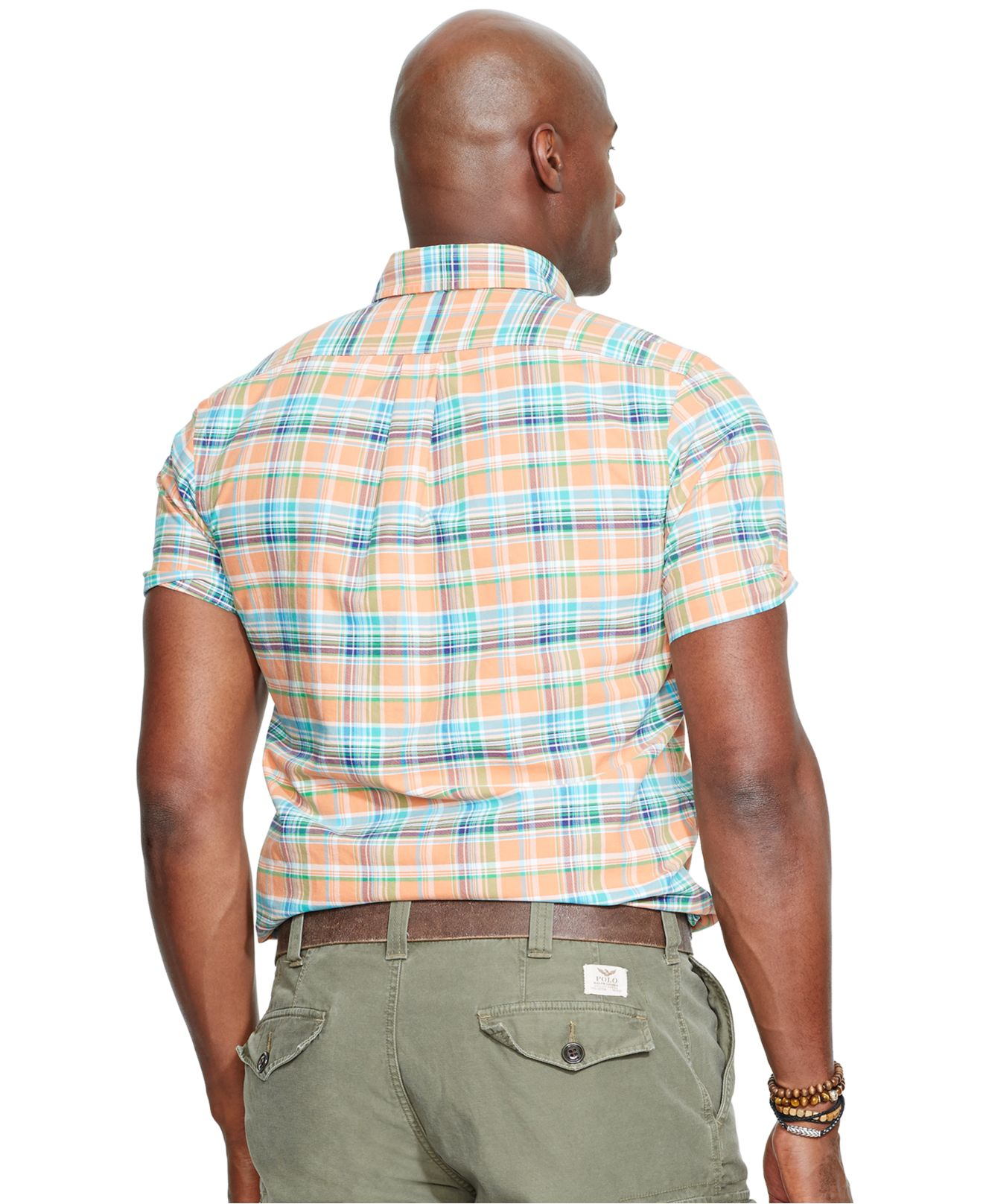 Polo ralph lauren big and tall short sleeved oxford shirt for Big and tall oxford shirts