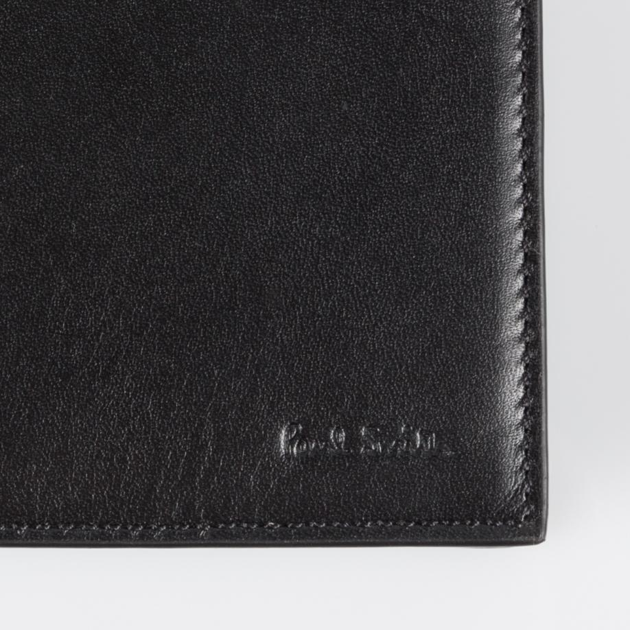 Lyst Paul Smith Men 39 S Black Leather 39 Cycling Caps 39 Print Interior Billfold Wallet In Red For Men