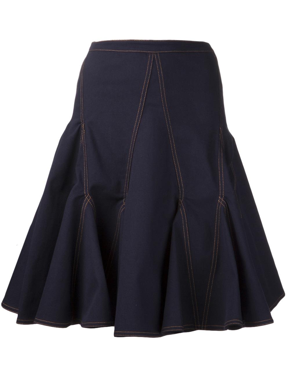 givenchy denim skirt in blue lyst