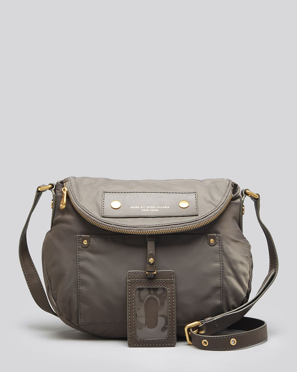 lyst marc by marc jacobs crossbody preppy nylon natasha in gray. Black Bedroom Furniture Sets. Home Design Ideas