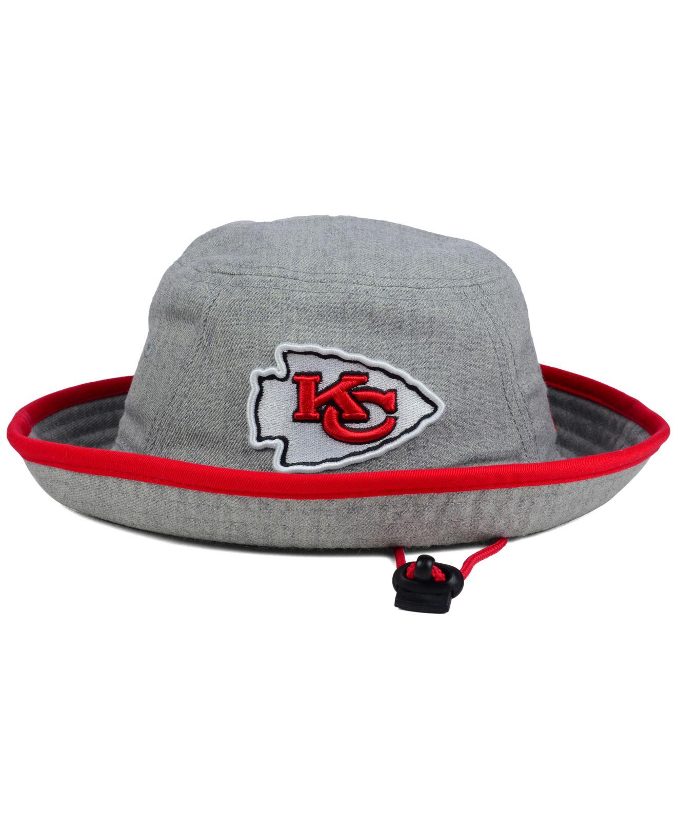 903e28982f1 ... usa lyst ktz kansas city chiefs nfl heather gray bucket hat in gray  d9741 61b32