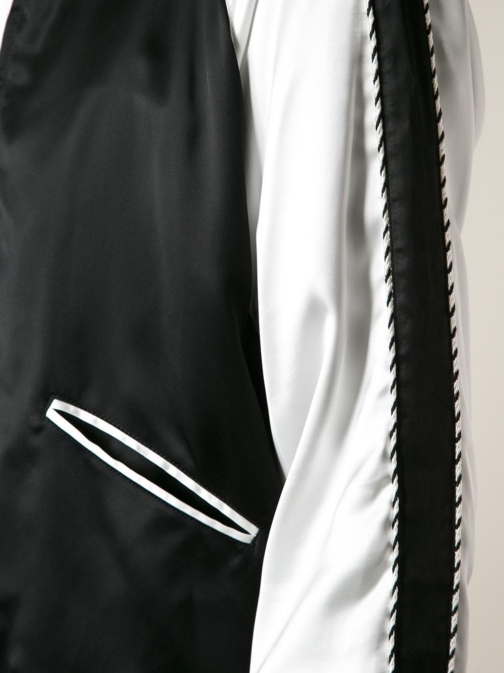 Saint laurent Monochrome Bomber Jacket in Black for Men   Lyst