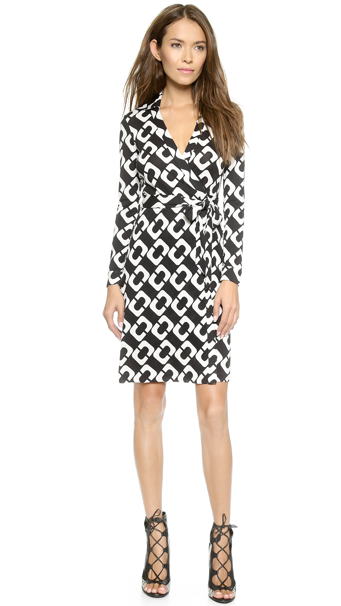 Lyst Diane Von Furstenberg New Jeanne Two Wrap Dress In