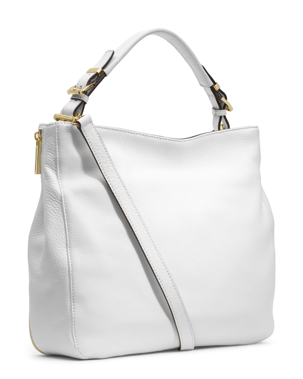 01d56a98a7 ... greece lyst michael michael kors large essex convertible shoulder bag  in white 6d7bf 02776