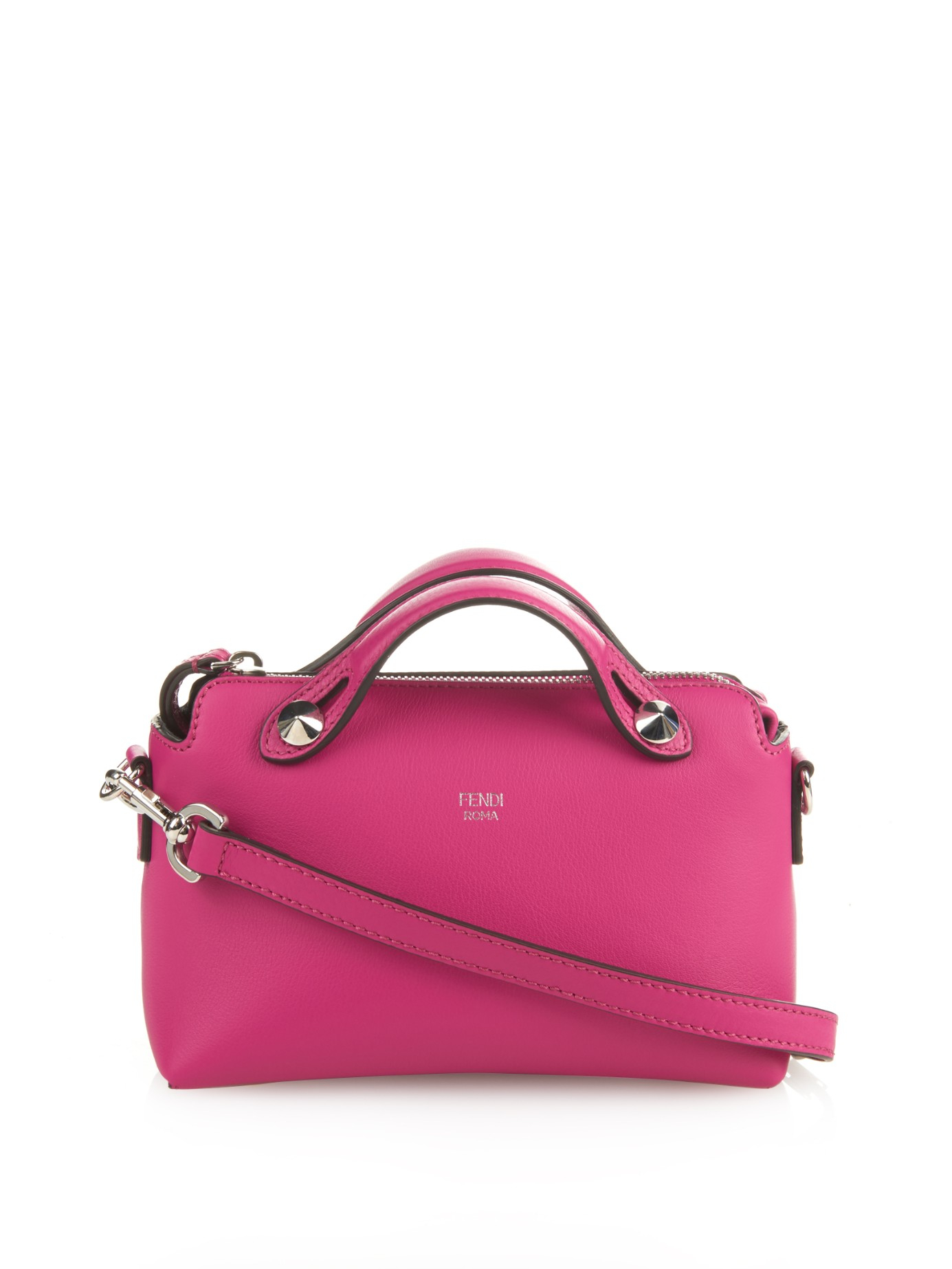 26861a9bd8b8 Fendi By The Way Mini Leather Cross-Body Bag in Pink - Lyst