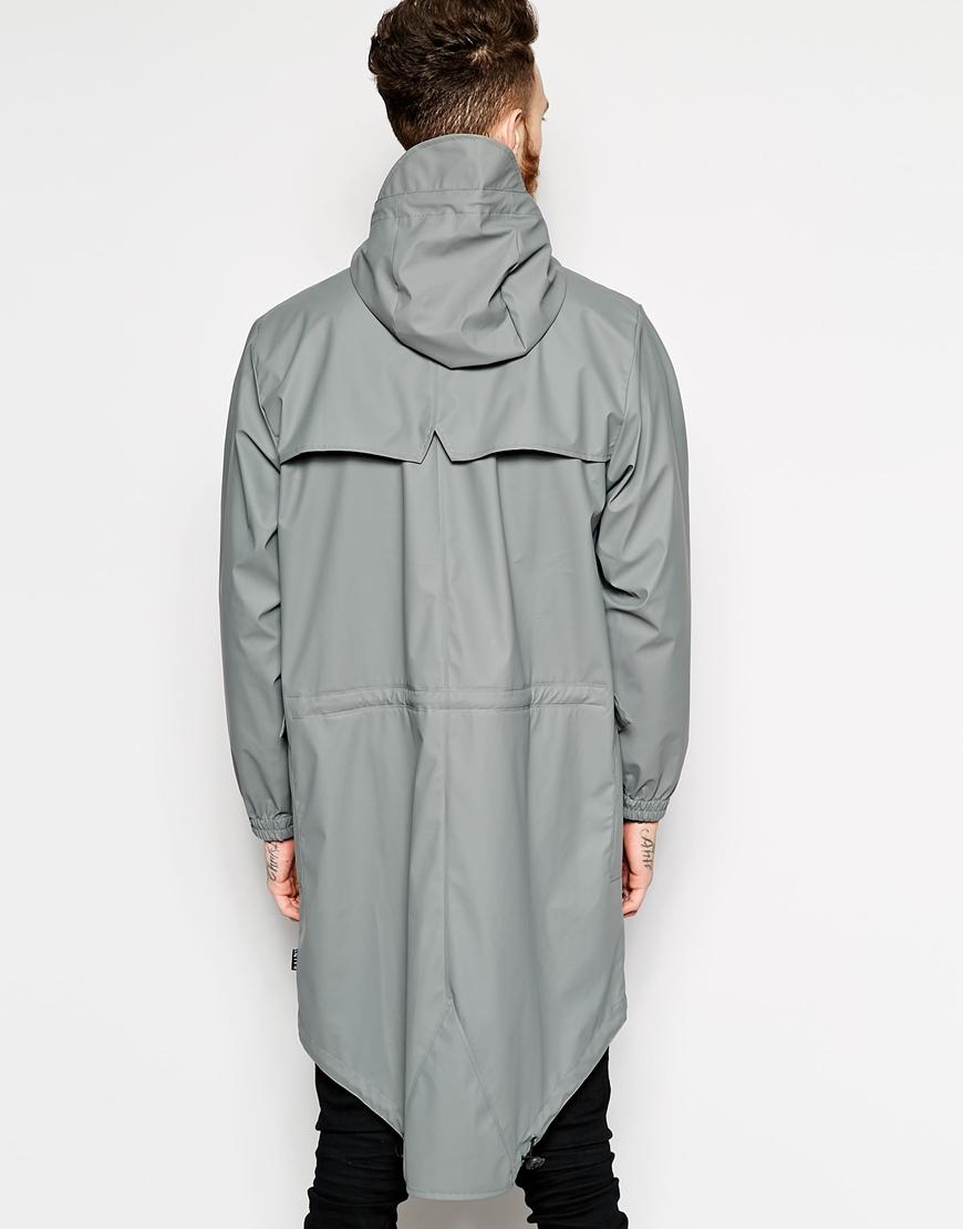 Rains Grey Parka Jacket