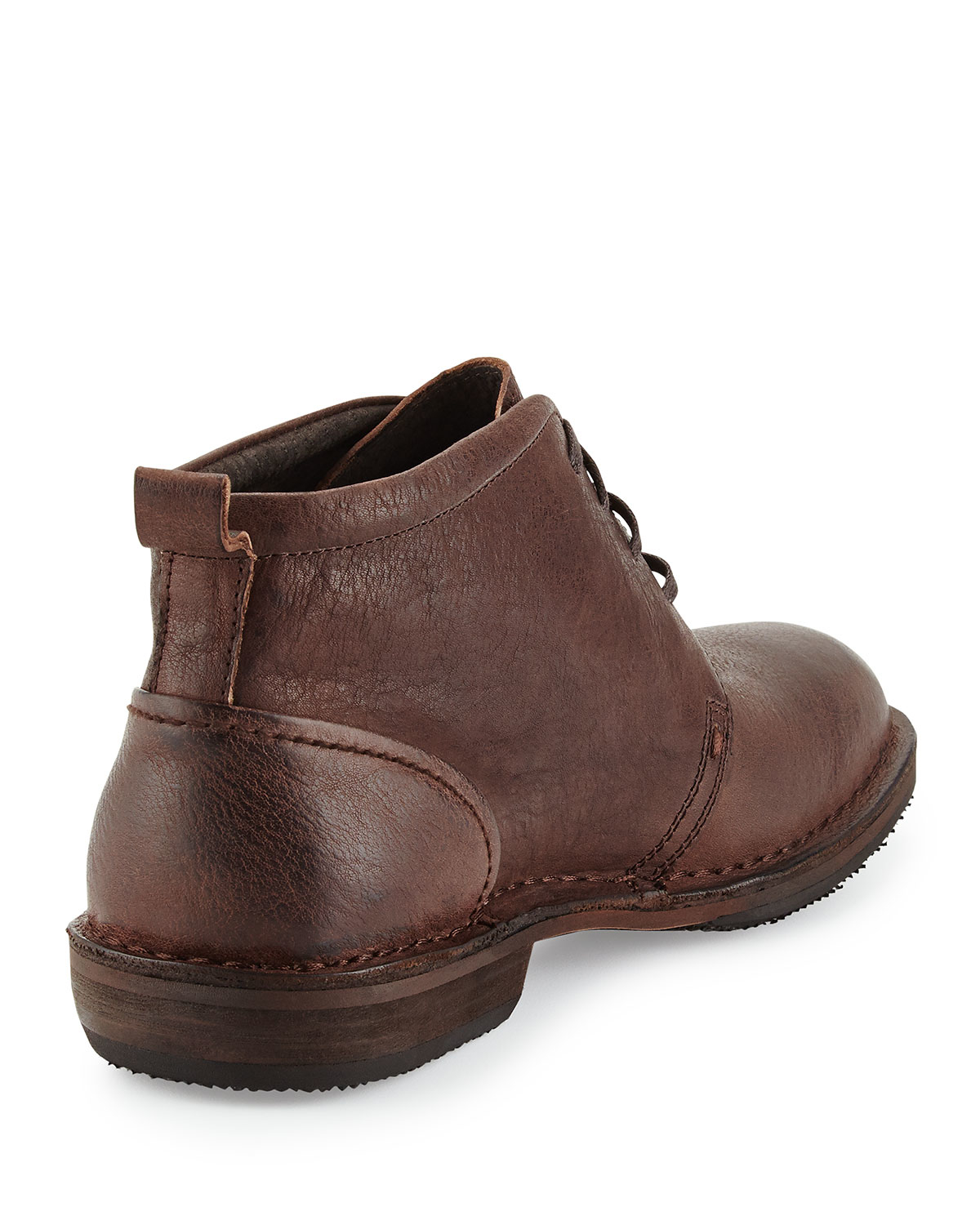 andrew marc greenwich leather chukka boot in brown for