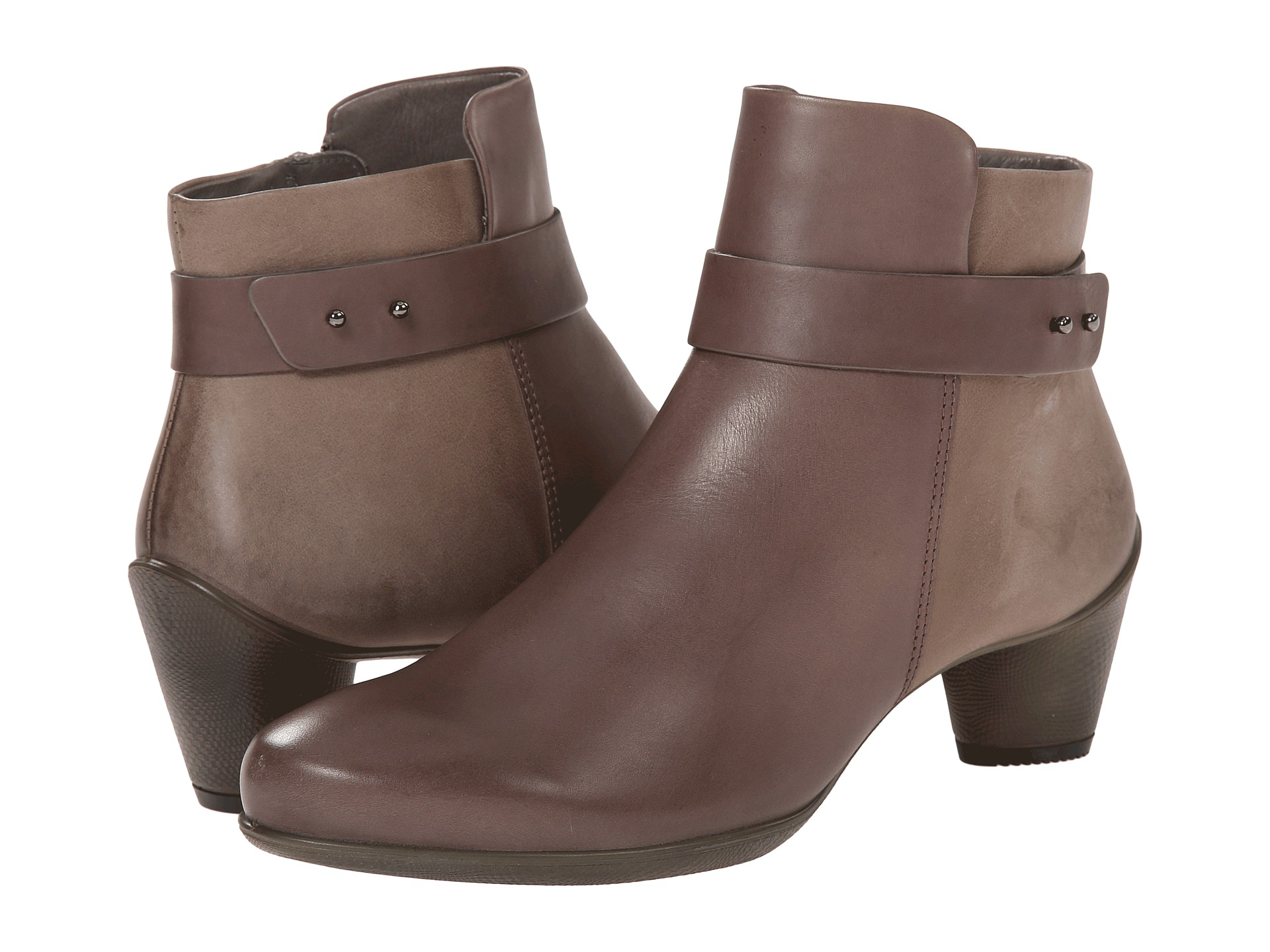 Lyst Ecco Sculptured 45 Ankle Boot In Brown