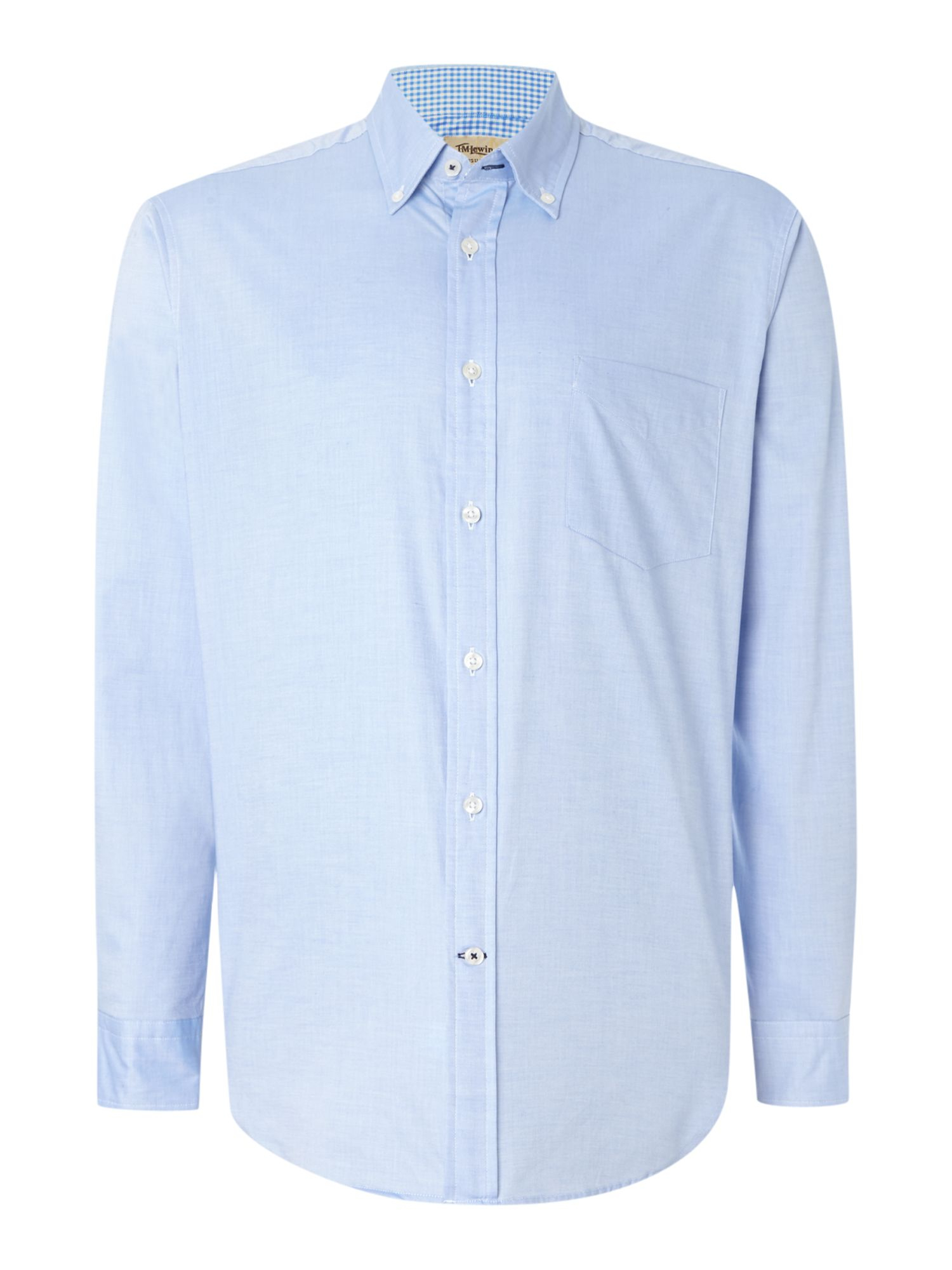 tm lewin oxford relaxed fit casual shirt in blue for men