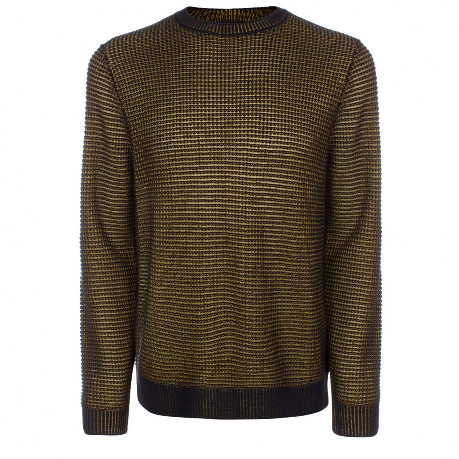 Paul smith Men's Black And Gold Tuck-stitch Wool-blend Sweater in ...