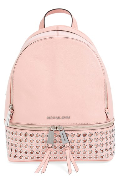 adc79f0fb261 ... new zealand lyst michael michael kors rhea zip grommet leather backpack  in 90af6 c16fd