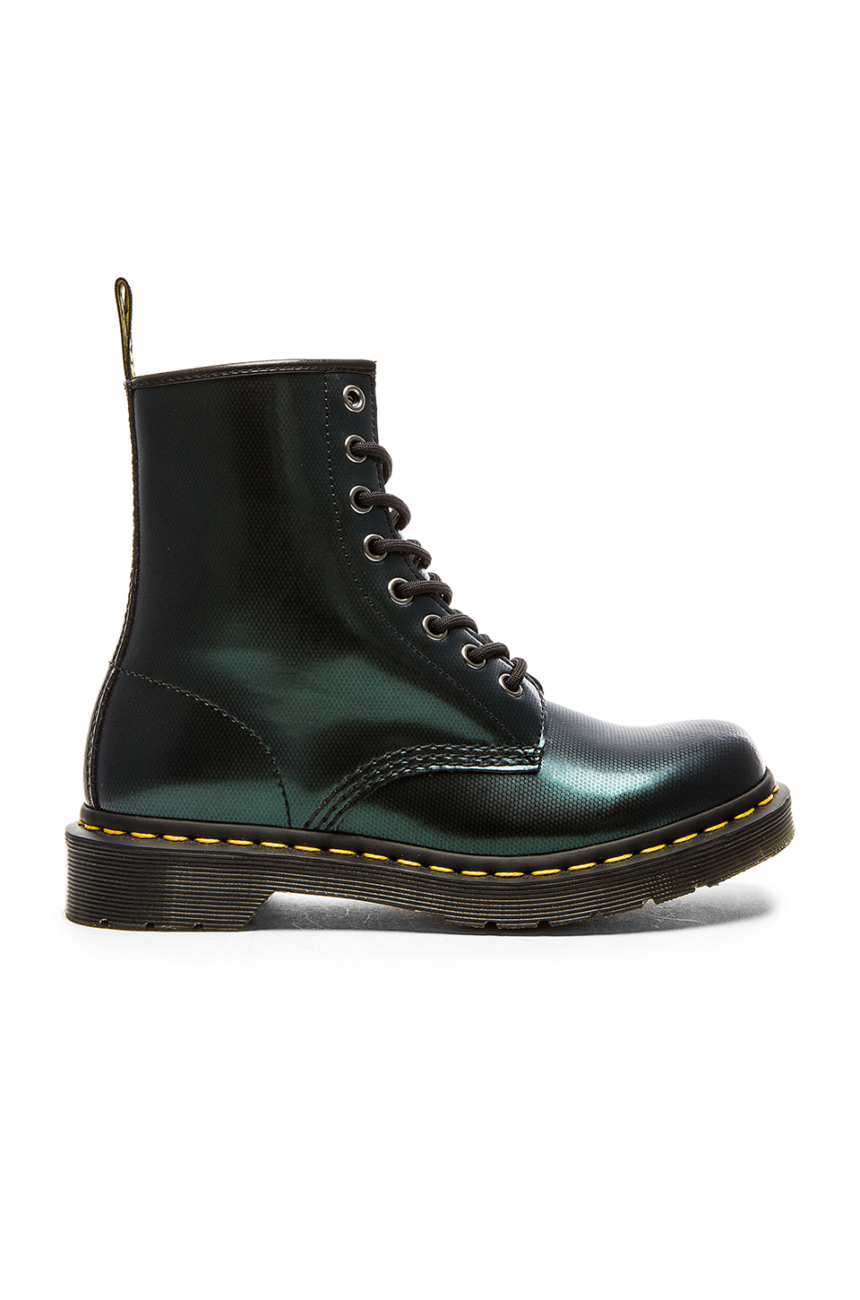 Dr. Martens 8-Eye Leather Ankle Boots in Green - Lyst