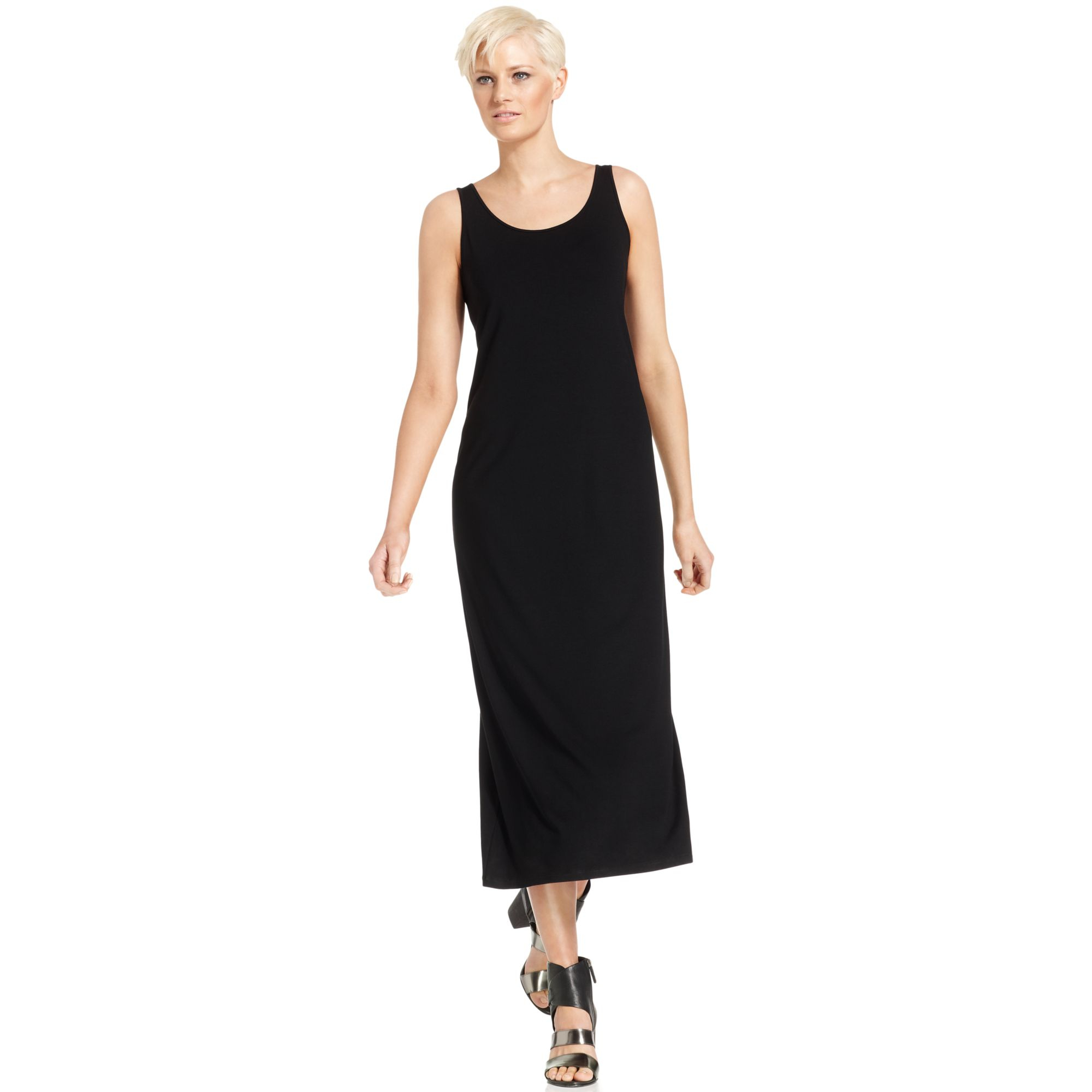 Eileen fisher black maxi dress