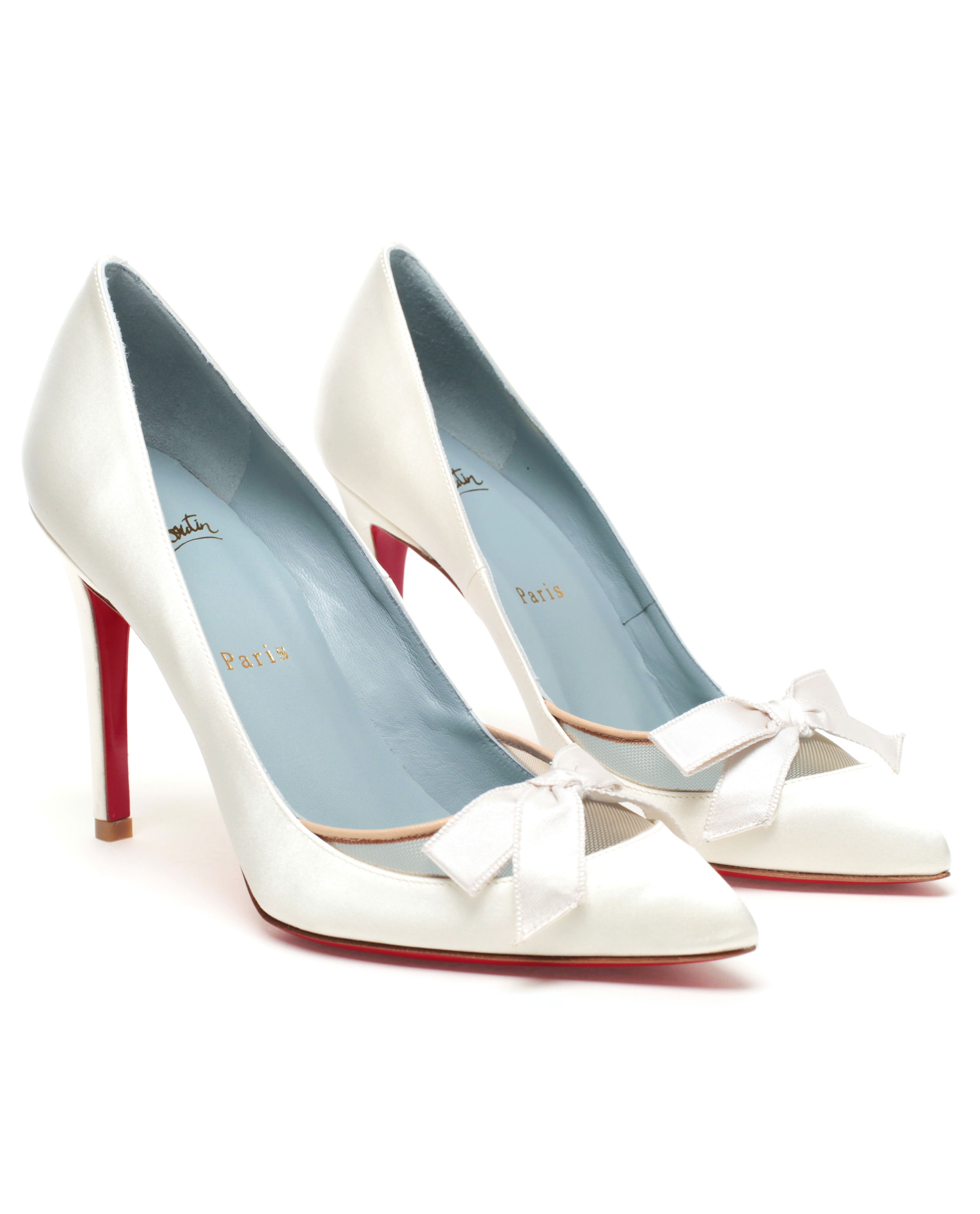 Christian Louboutin Love Me Bridal Shoes in White - Lyst