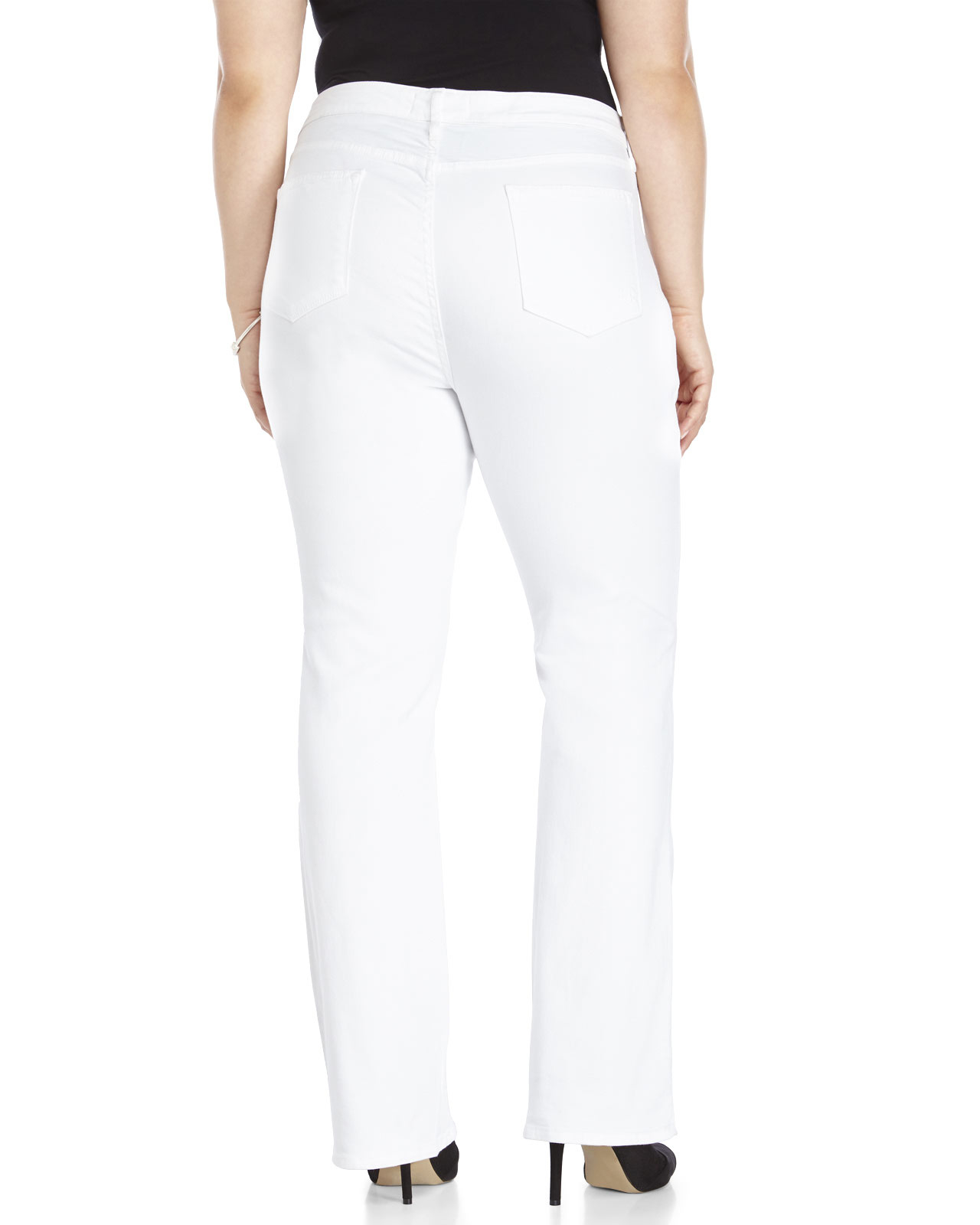 Cj by cookie johnson Plus Size White Grace Bootcut Jeans in White ...