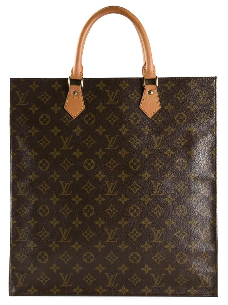 lyst louis vuitton monogram flat sac bag in brown. Black Bedroom Furniture Sets. Home Design Ideas
